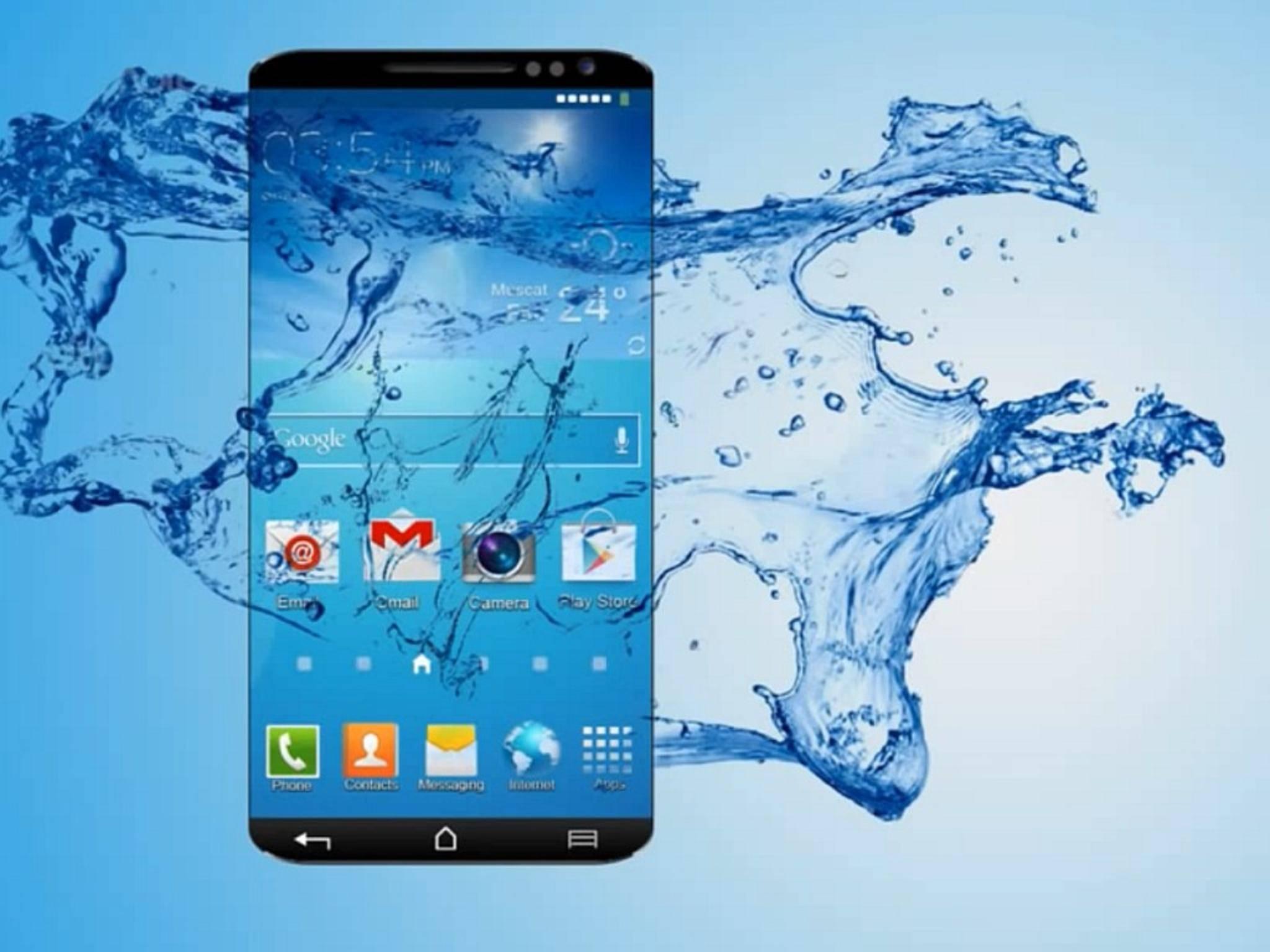 Anders als in diesem Konzeptvideo soll das Galaxy S6 nicht wasserdicht werden.