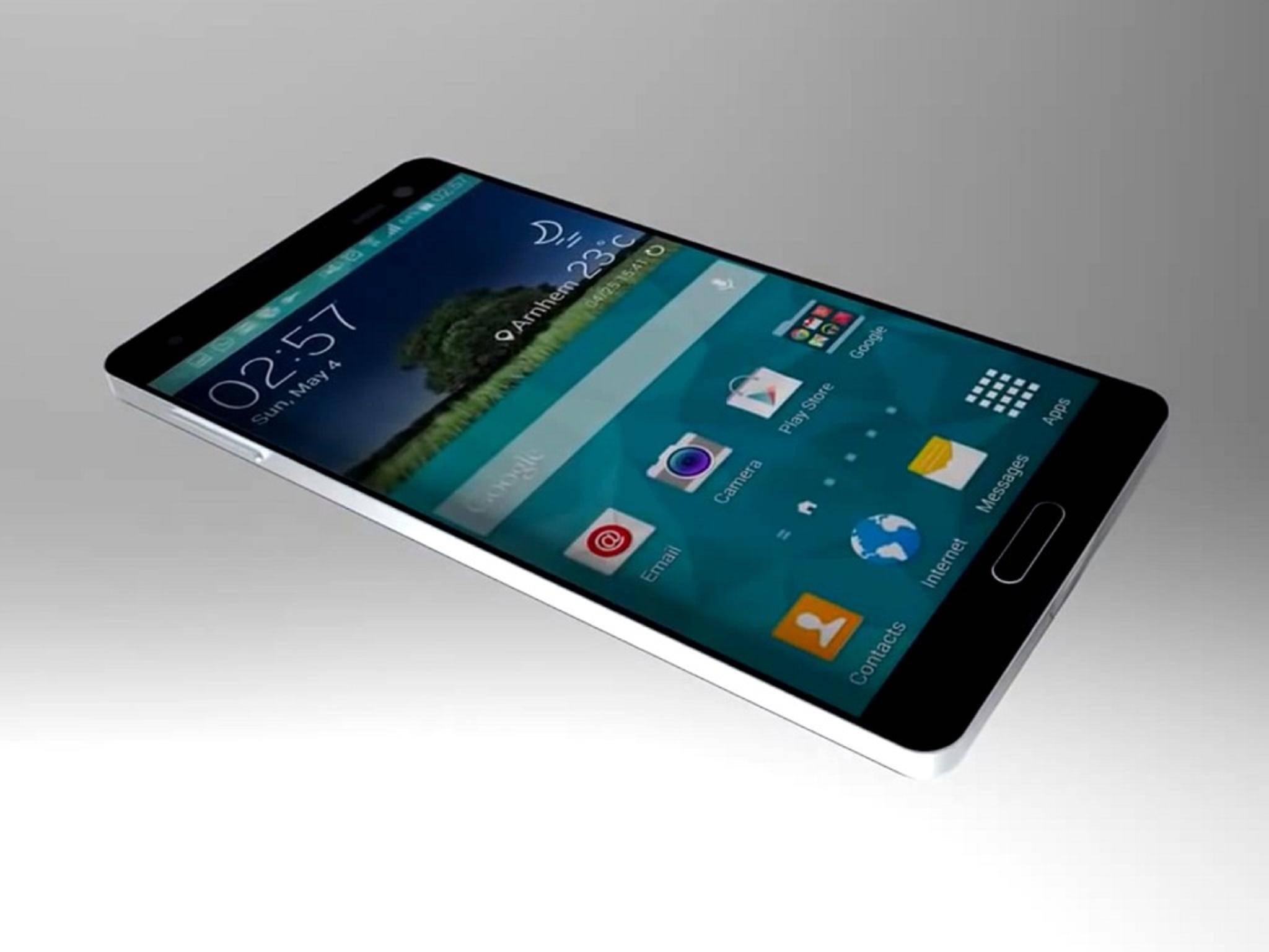 Entwurf auf YouTube: So könnte das Samsung Galaxy S6 aussehen – aber auch was drin steckt, ist noch nicht klar.