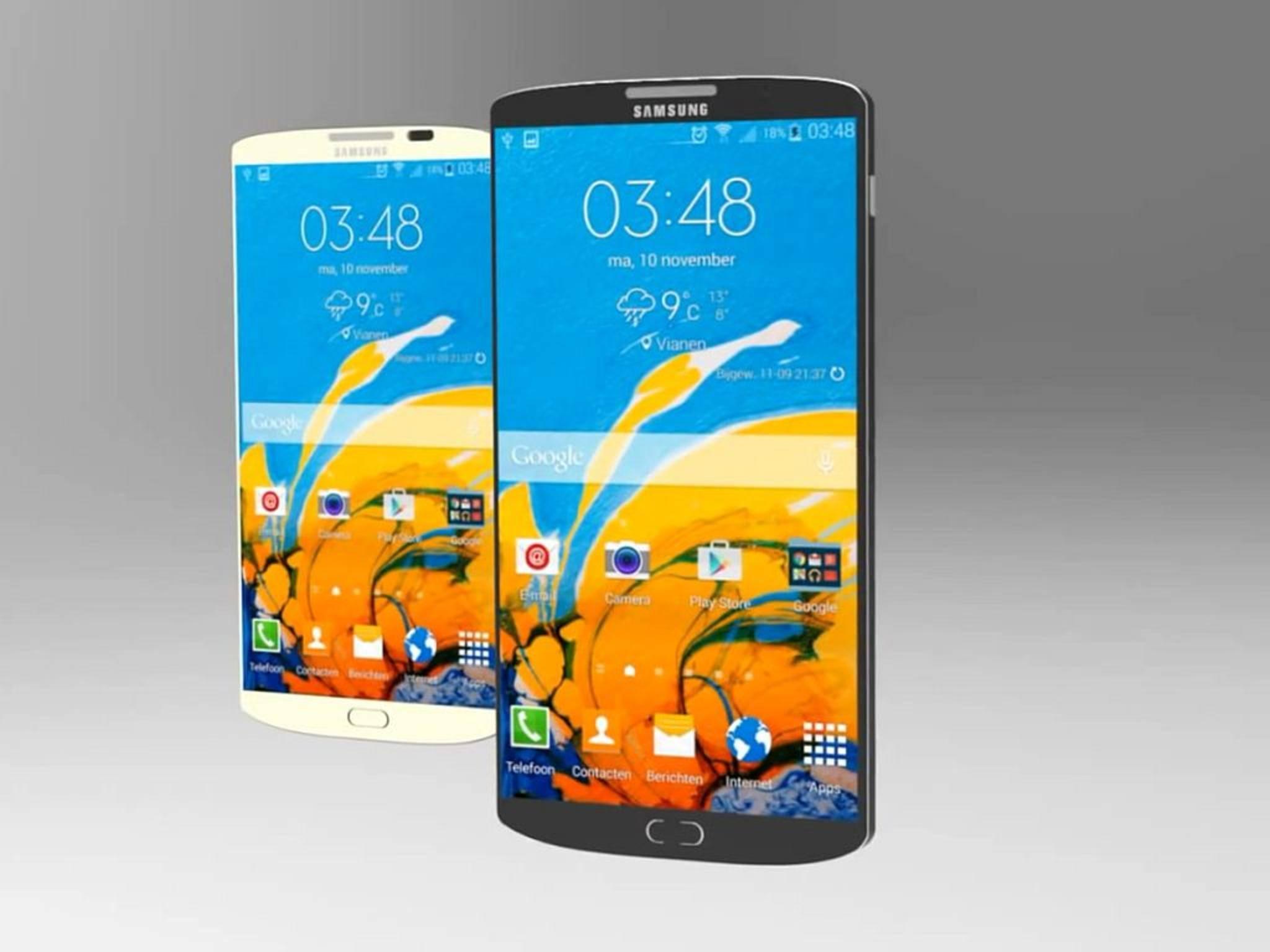 Bislang war nur von einem 5,1-Zoll-Display beim Galaxy S6 die Rede.