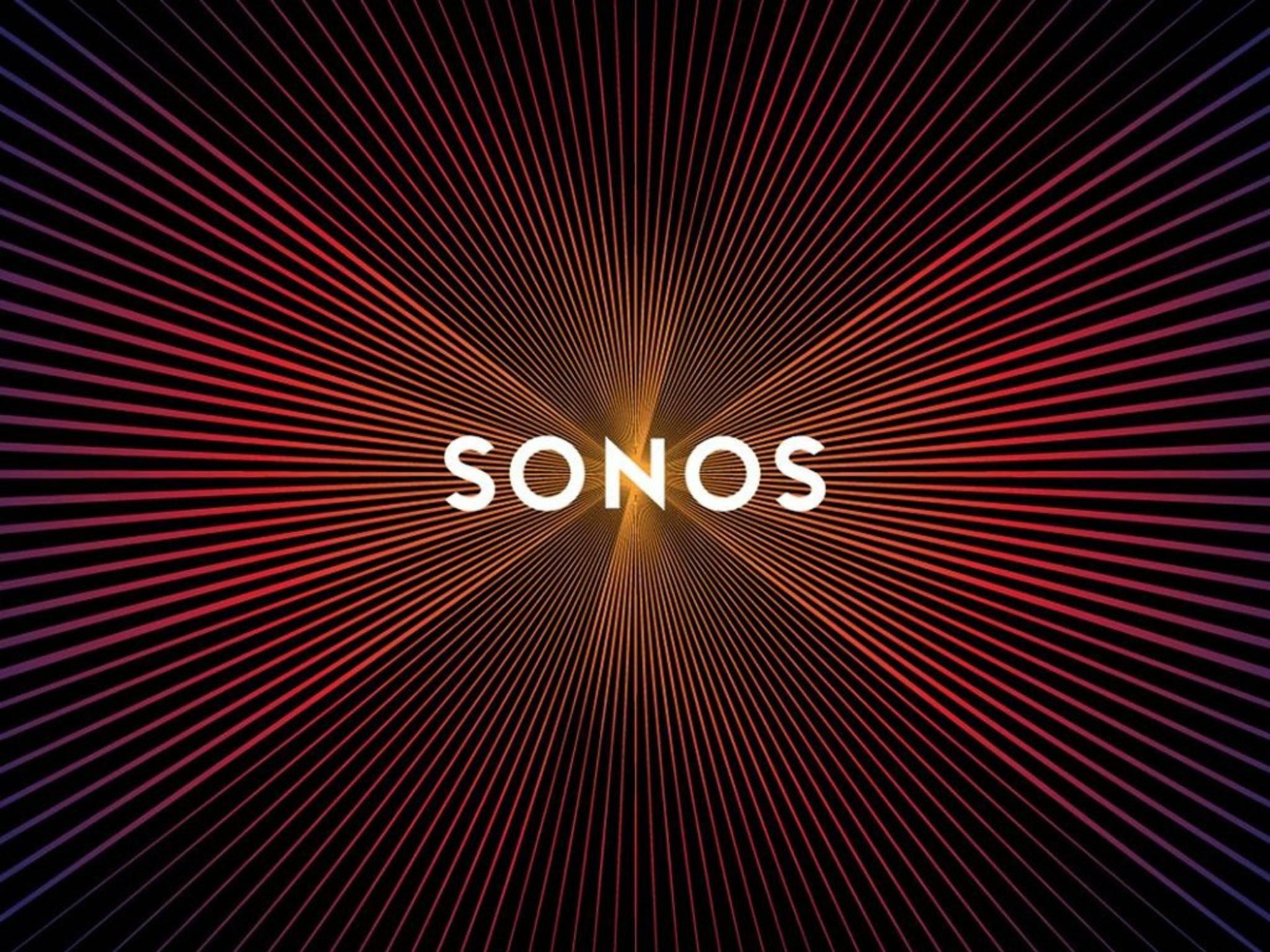 Unbedingt drüberscrollen! Dann entfaltet das Sonos-Logo sein volles Potenzial.