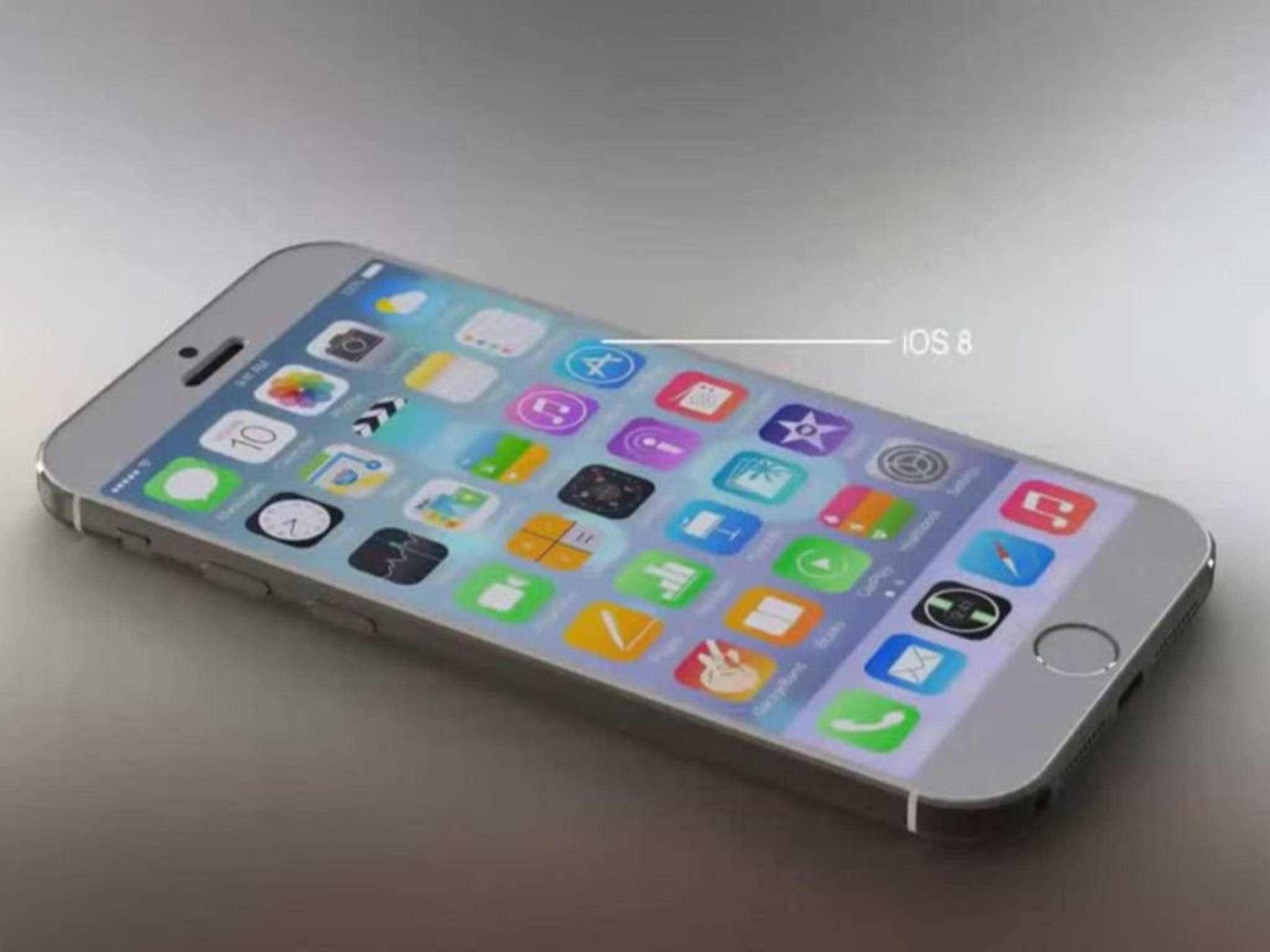 Offizielles Design? Nein, das ist natürlich nur eine Konzeptzeichnung des iPhone 6s.