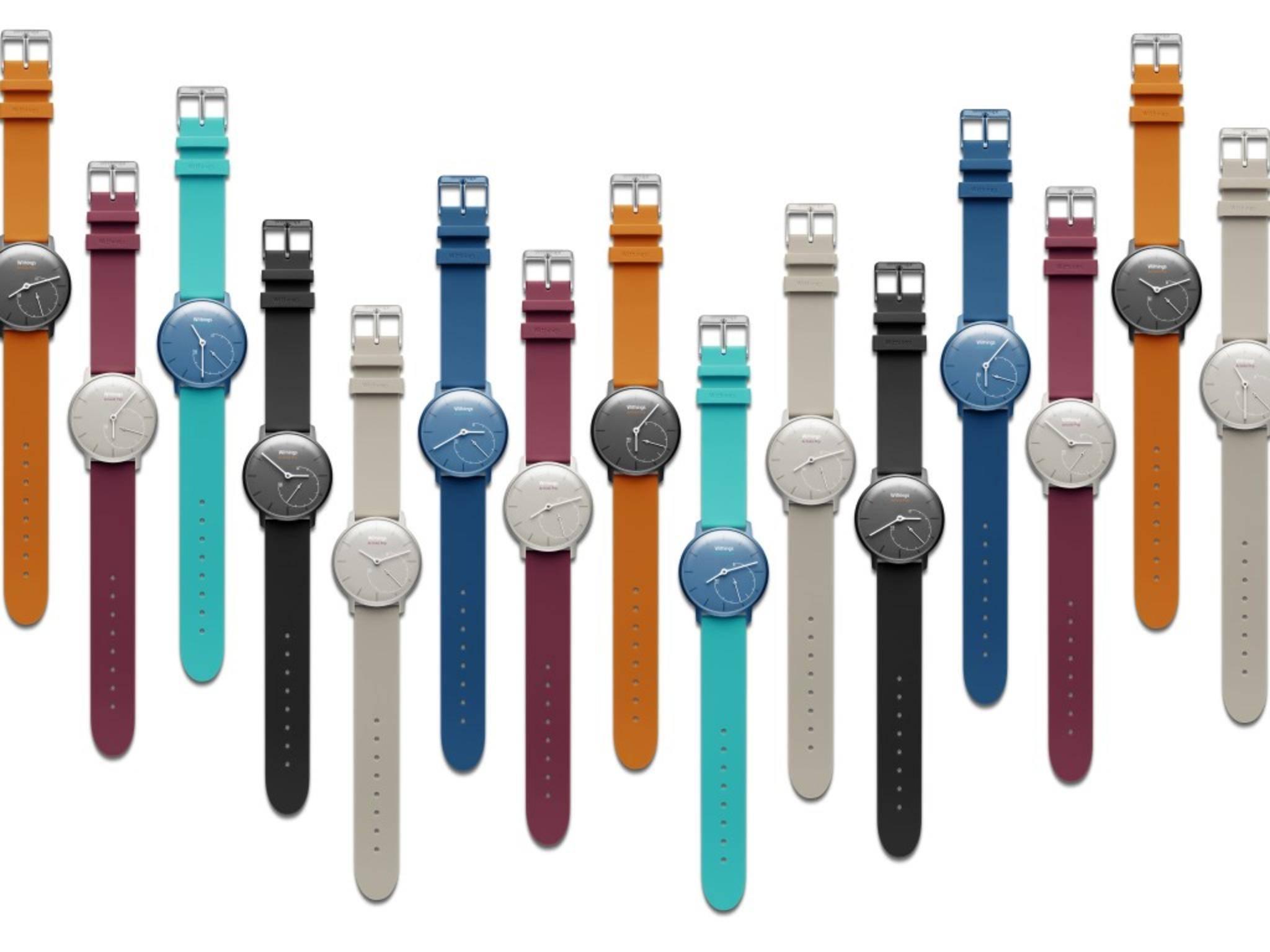 Für die Withings Activité Pop stehen viele knallige Armbandfarben zur Auswahl.