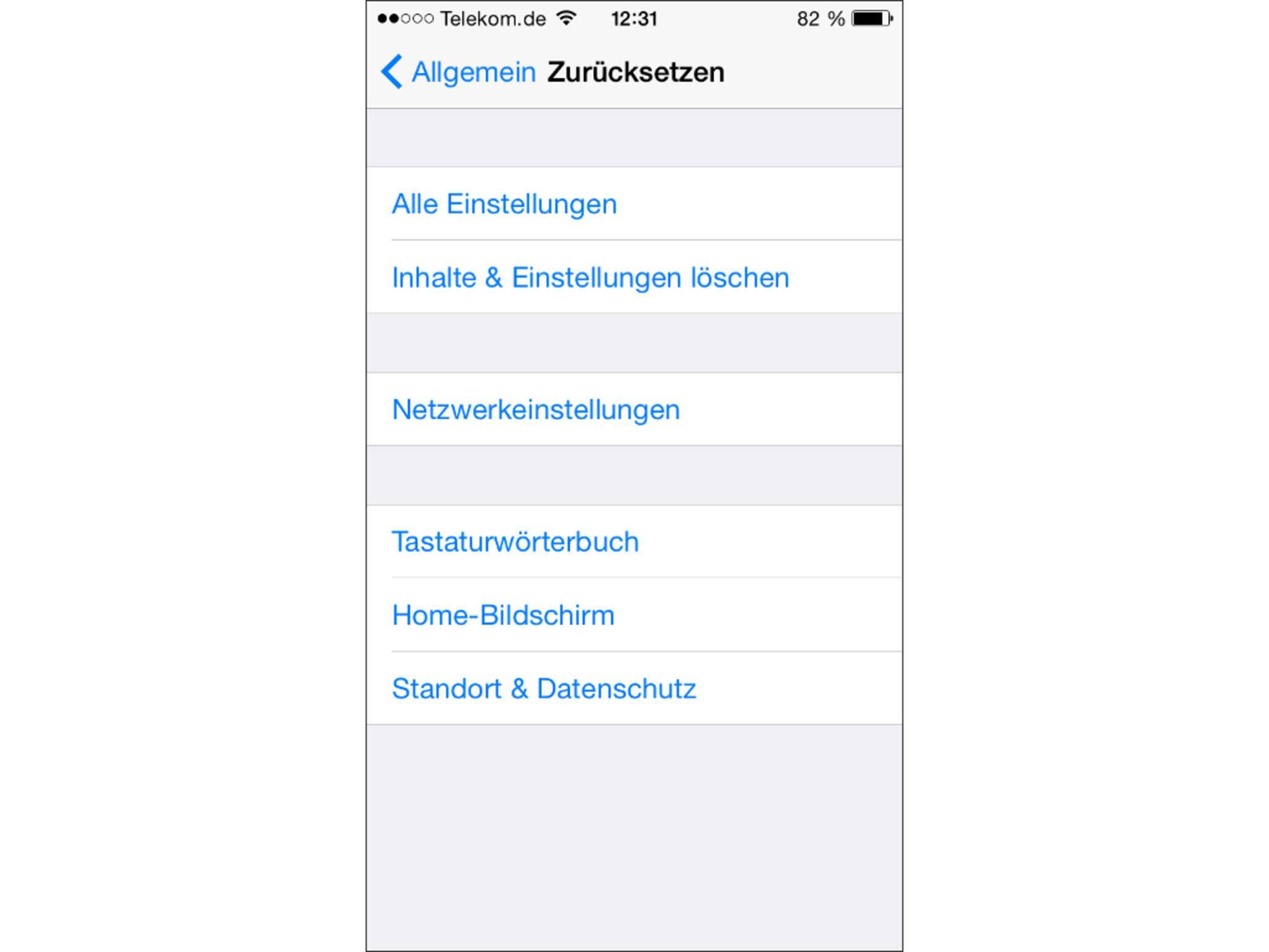 Das iPhone zurücksetzen kann als letzter Versuch helfen.