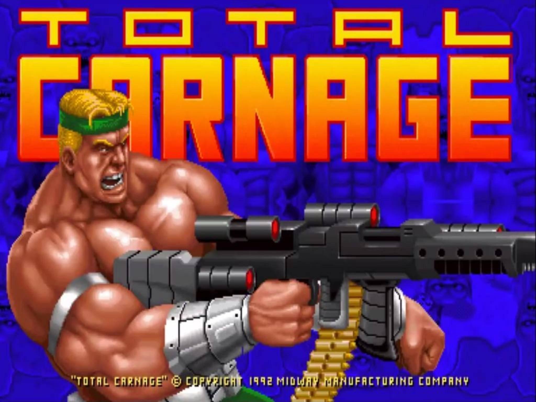 """Ballern, bis der Finger schmerzt: """"Total Carnage"""" ist auch unter den Retro-Klassikern."""