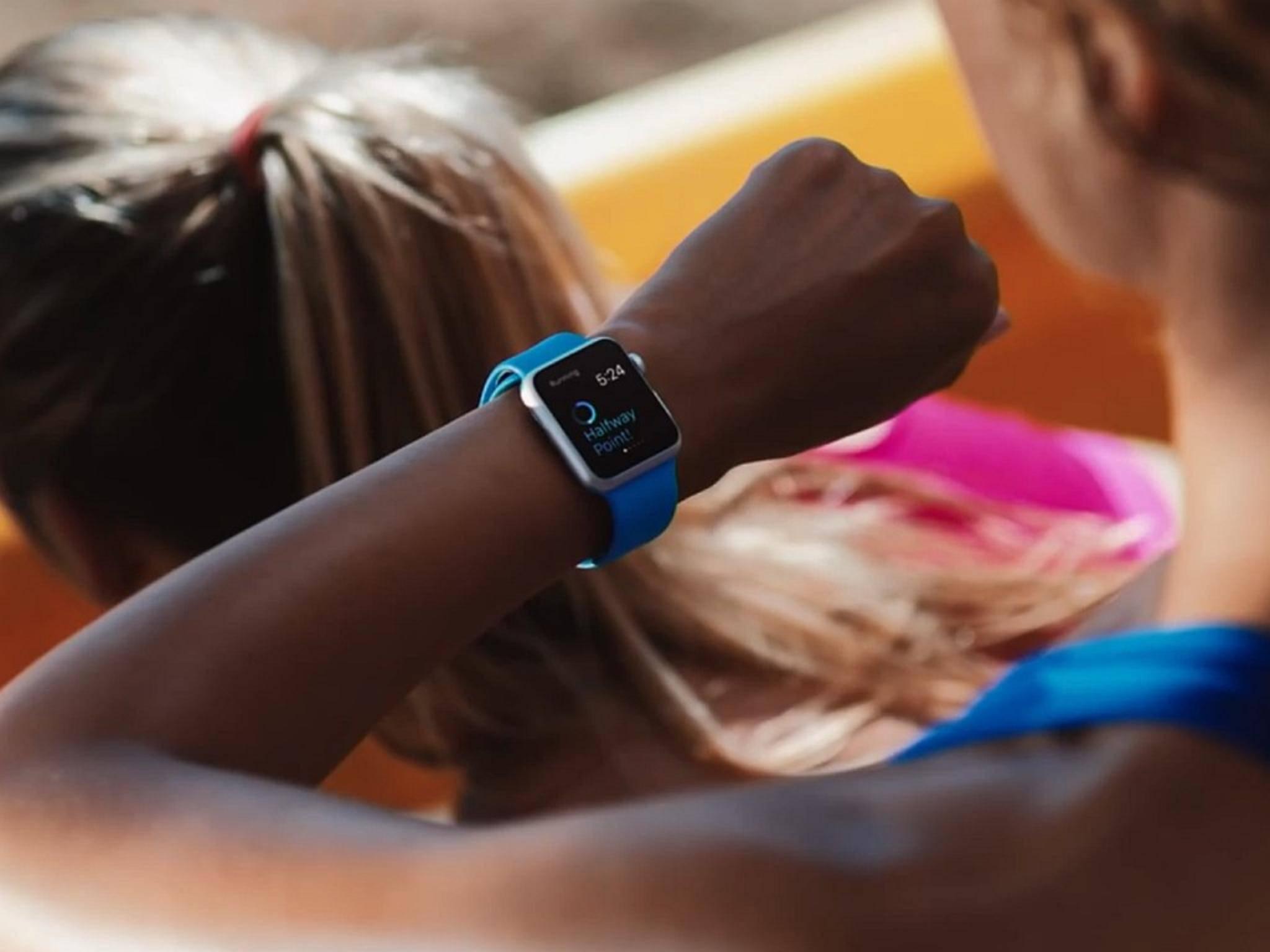 Zum Greifen nah: Die Apple Watch.