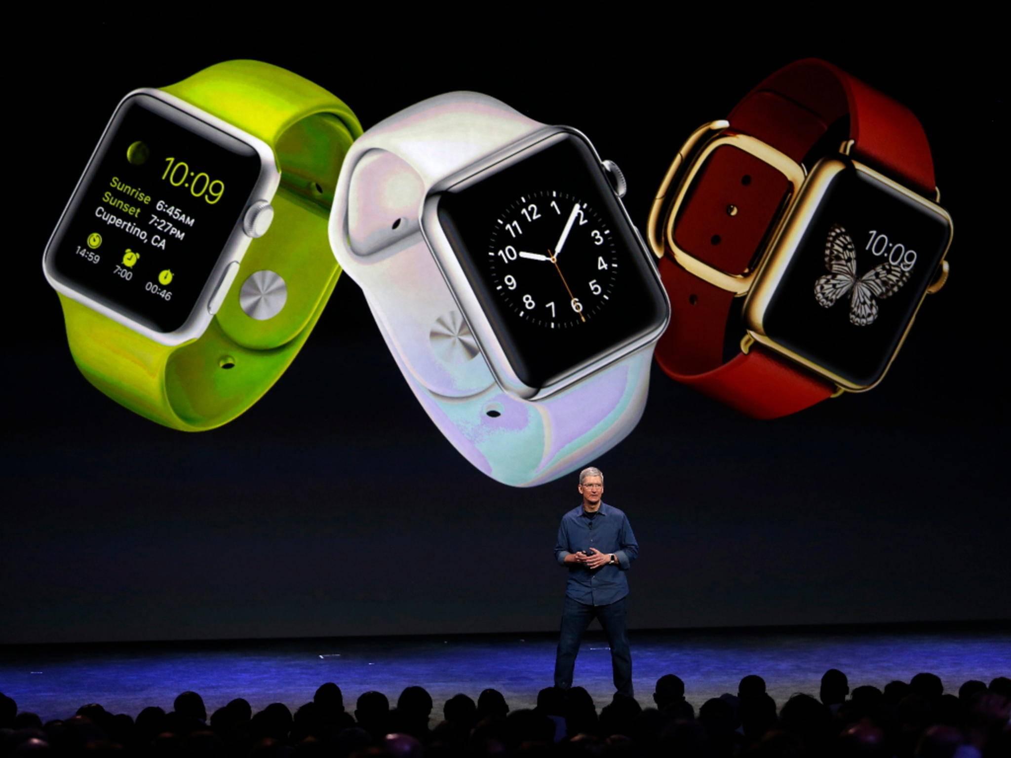 Die Apple Watch kommt in mehreren Varianten auf den Markt.