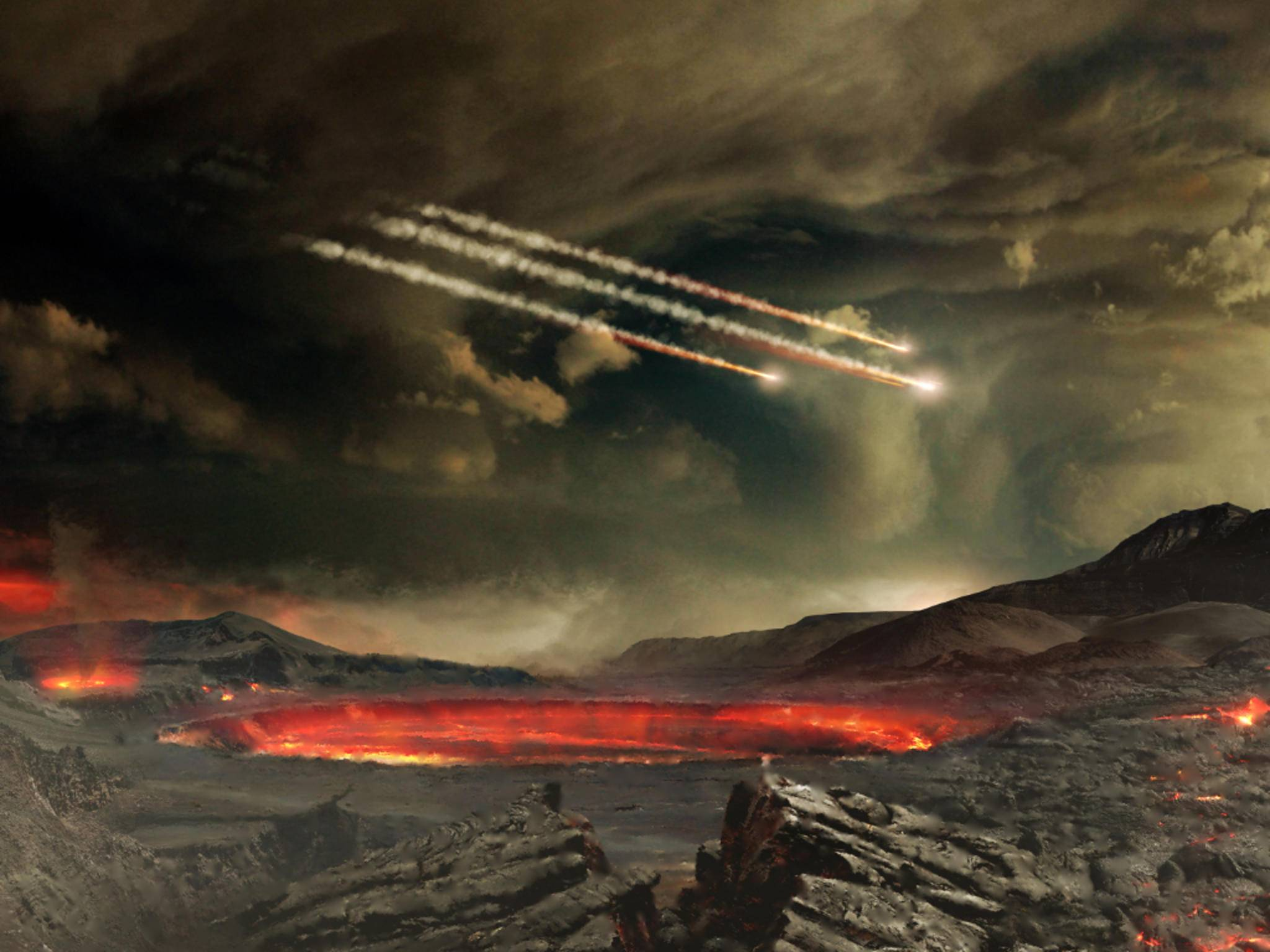 Asteroideneinschlag - Wahrscheinlichkeit: 0,00013 Prozent.