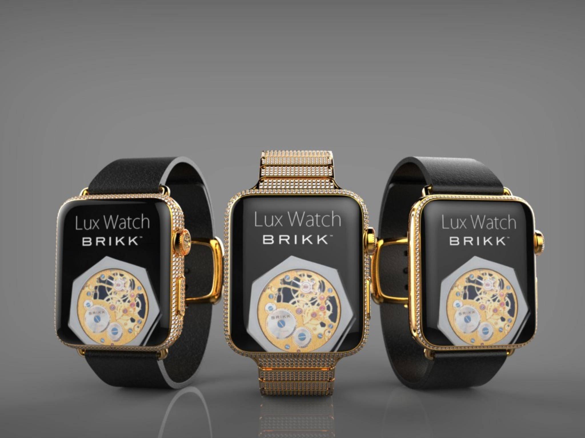Die Luxusmarke Brikk veredelt die Apple Watch und verlangt bis zu 75.000 Dollar.