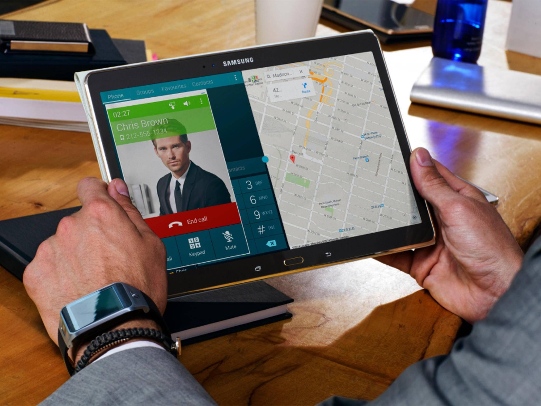 So kann man Samsungs Maxi-Tablet garantiert nicht halten.