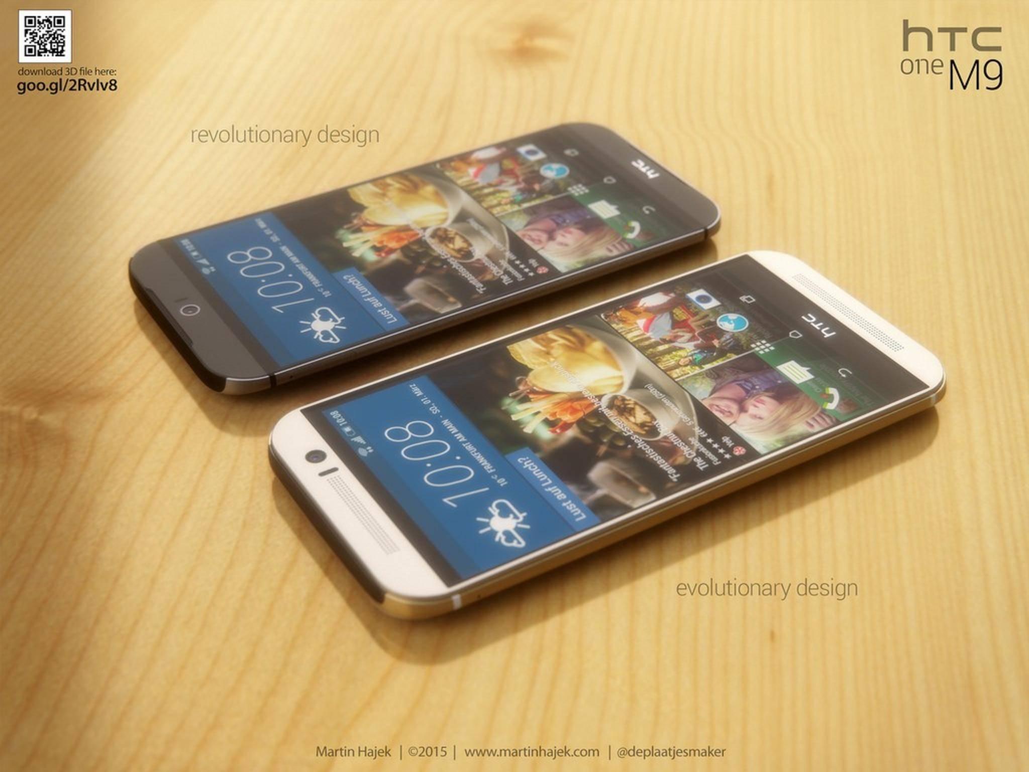 Ganz so, wie Designer Martin Hajek sich das HTC One M9 vorstellte, wird es wohl nicht.