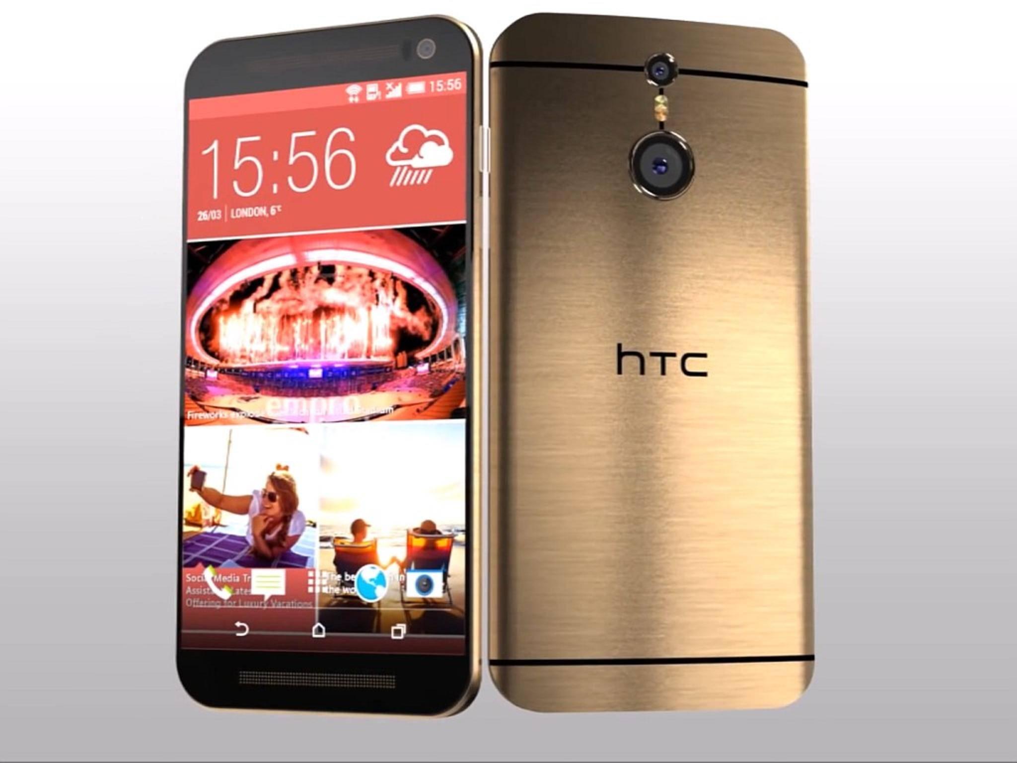 Wie das One M8 soll auch das HTC One M9 in einer Goldvariante auf den Markt kommen.