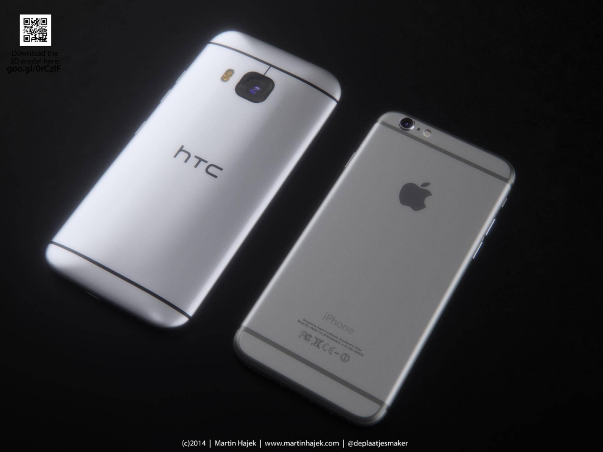 HTC One M9 und iPhone 6