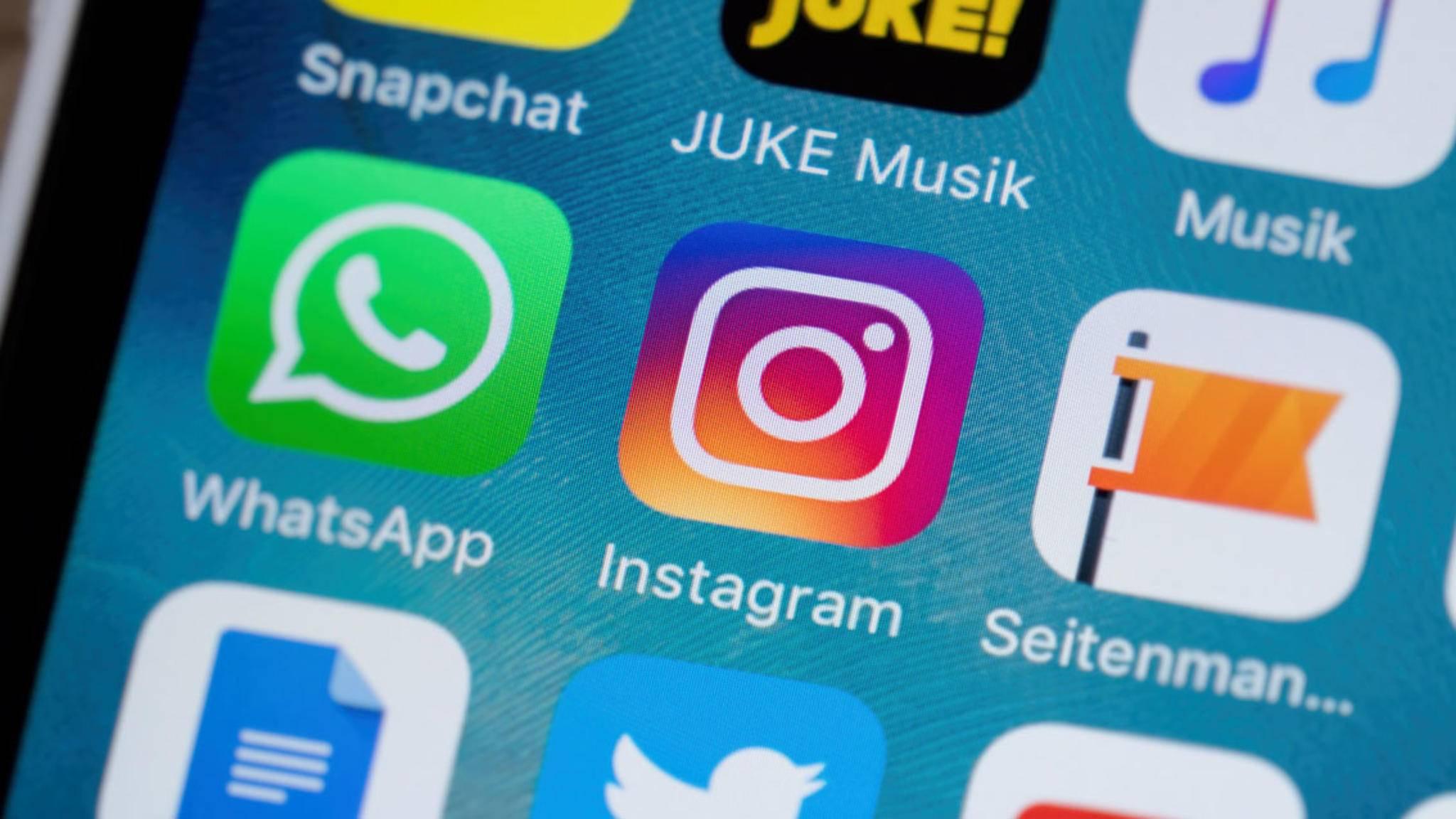 Instagram nutzt ebenso die gesamte Front aus.