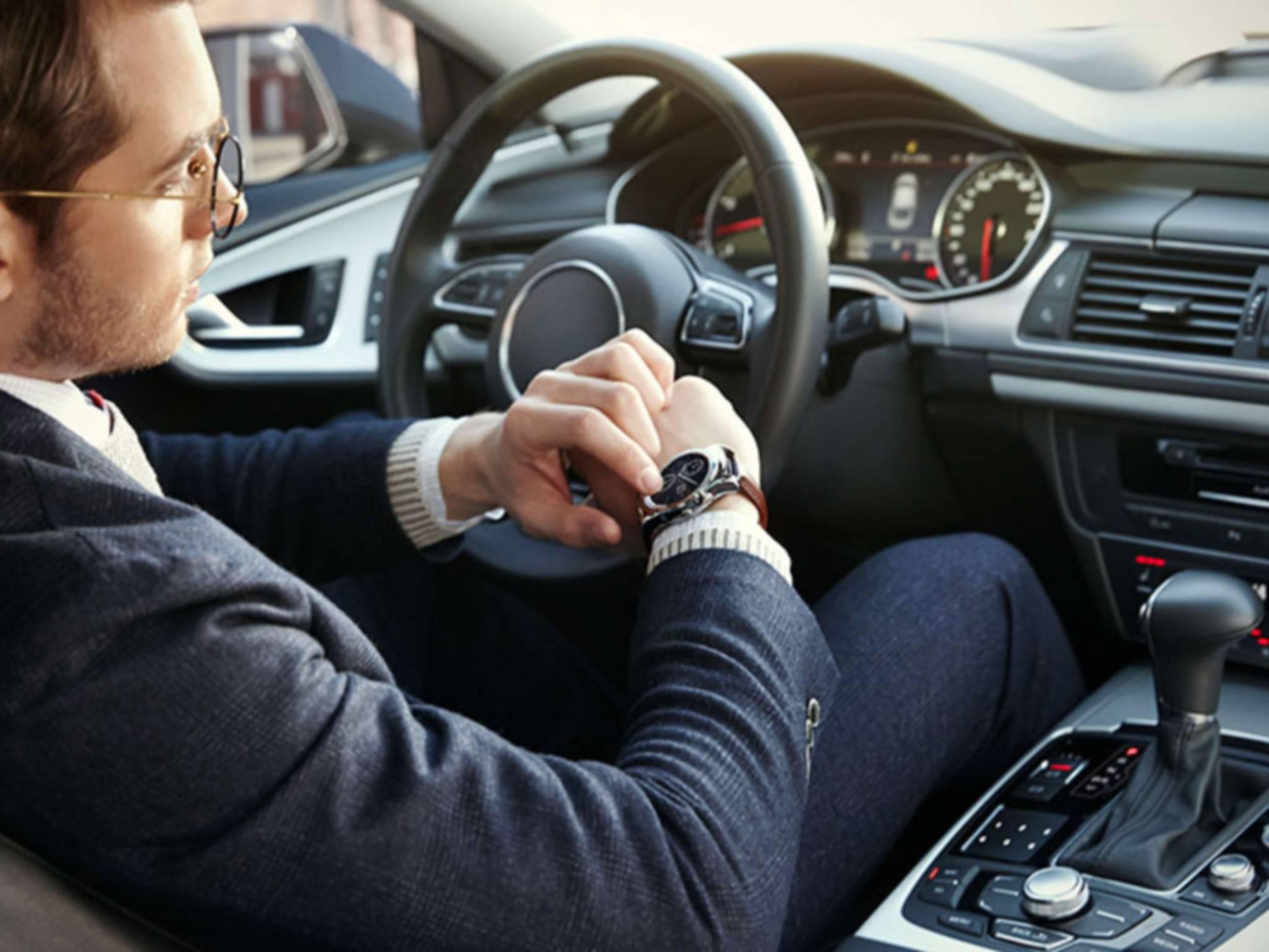 Auch im Auto soll die LG Watch Urbane LTE nützliche Funktionen bieten.