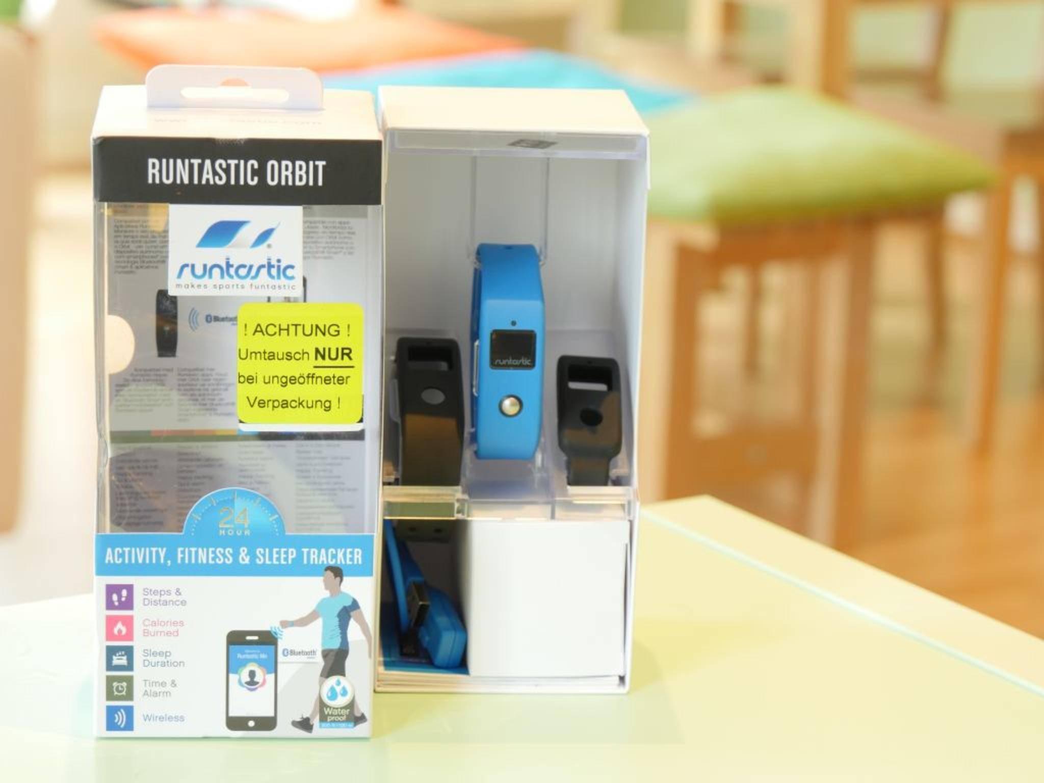 Der Fitness-Tracker von Runtastic bringt nur Standard-Funktionen mit.