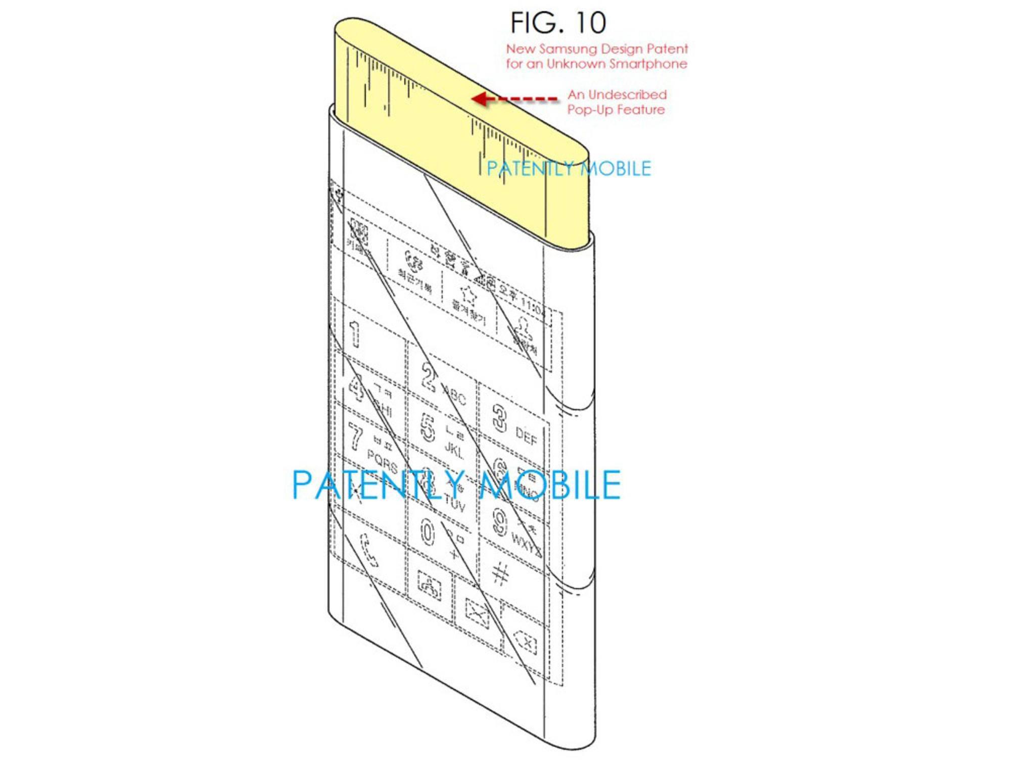 Ein Design-Patent von Samsung zeigt ein abgefahrenes Feature.