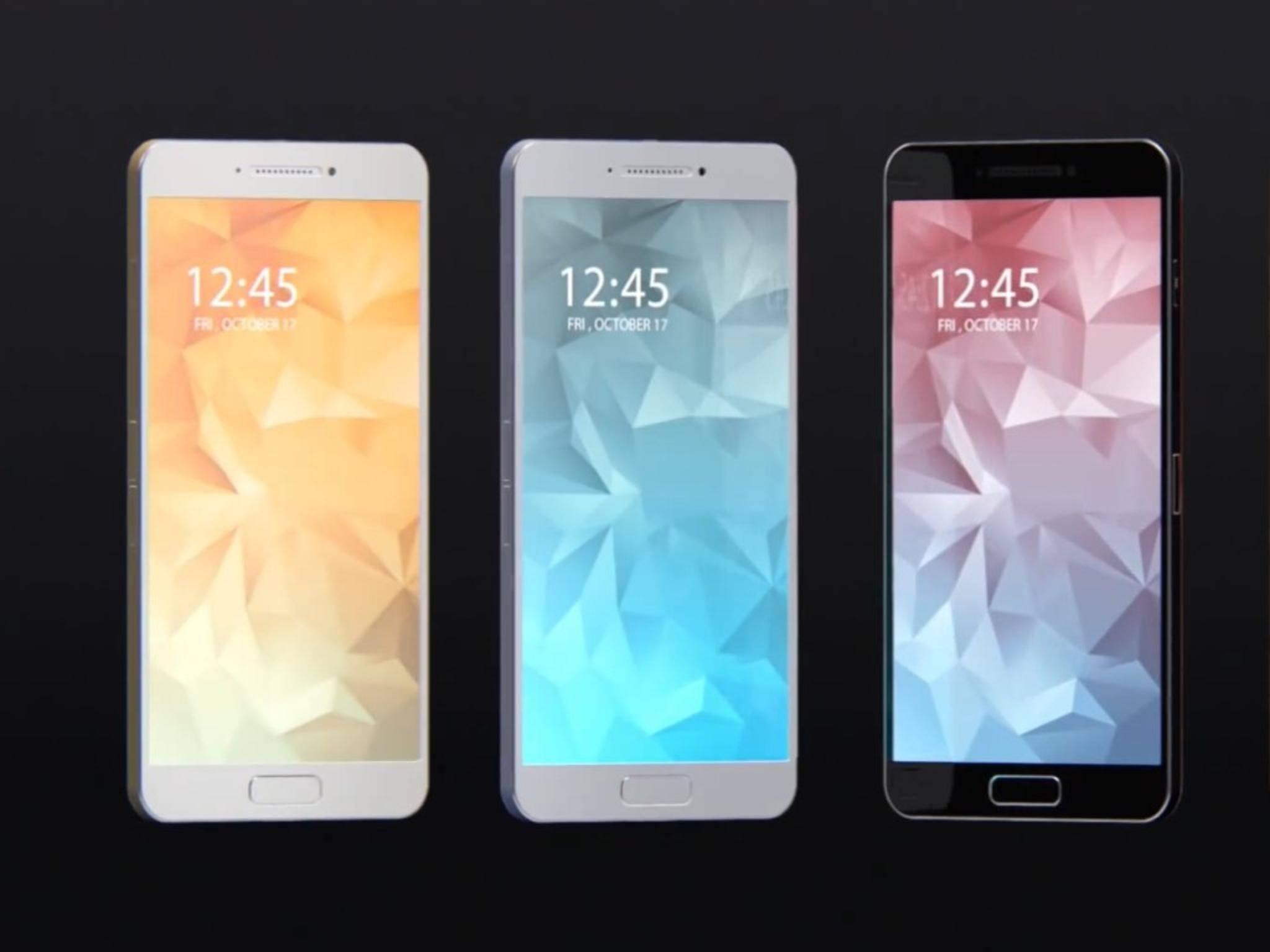 Das Galaxy S6 soll in vier Farben auf den Markt kommen.