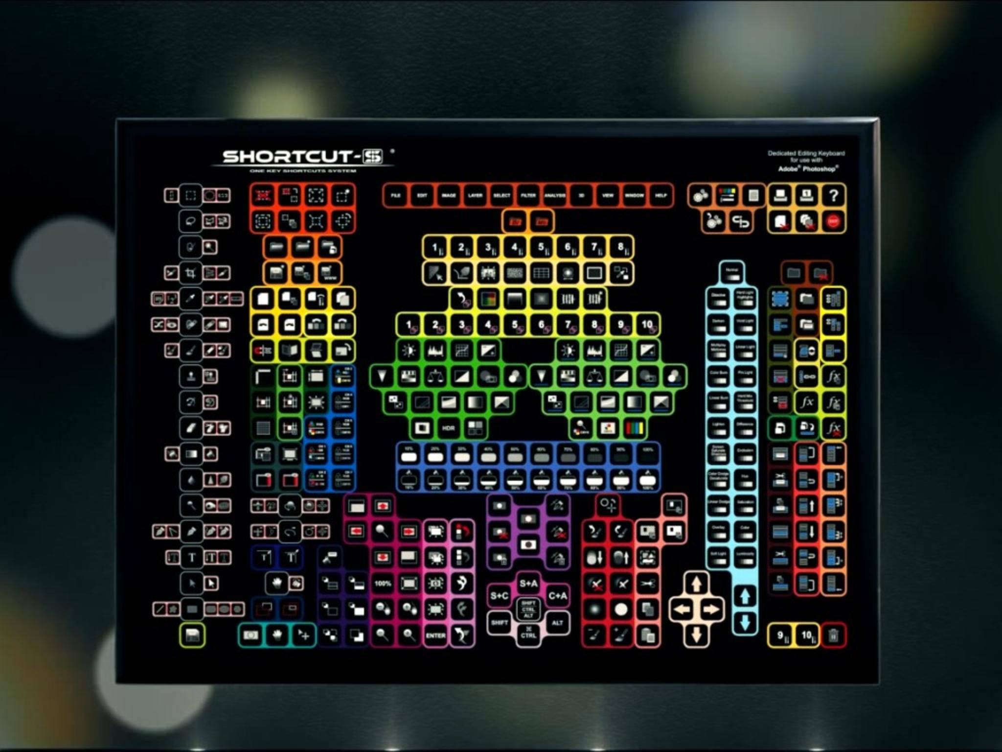 Eine Spezial-Tastatur für Photoshop: die Shortcut-S.