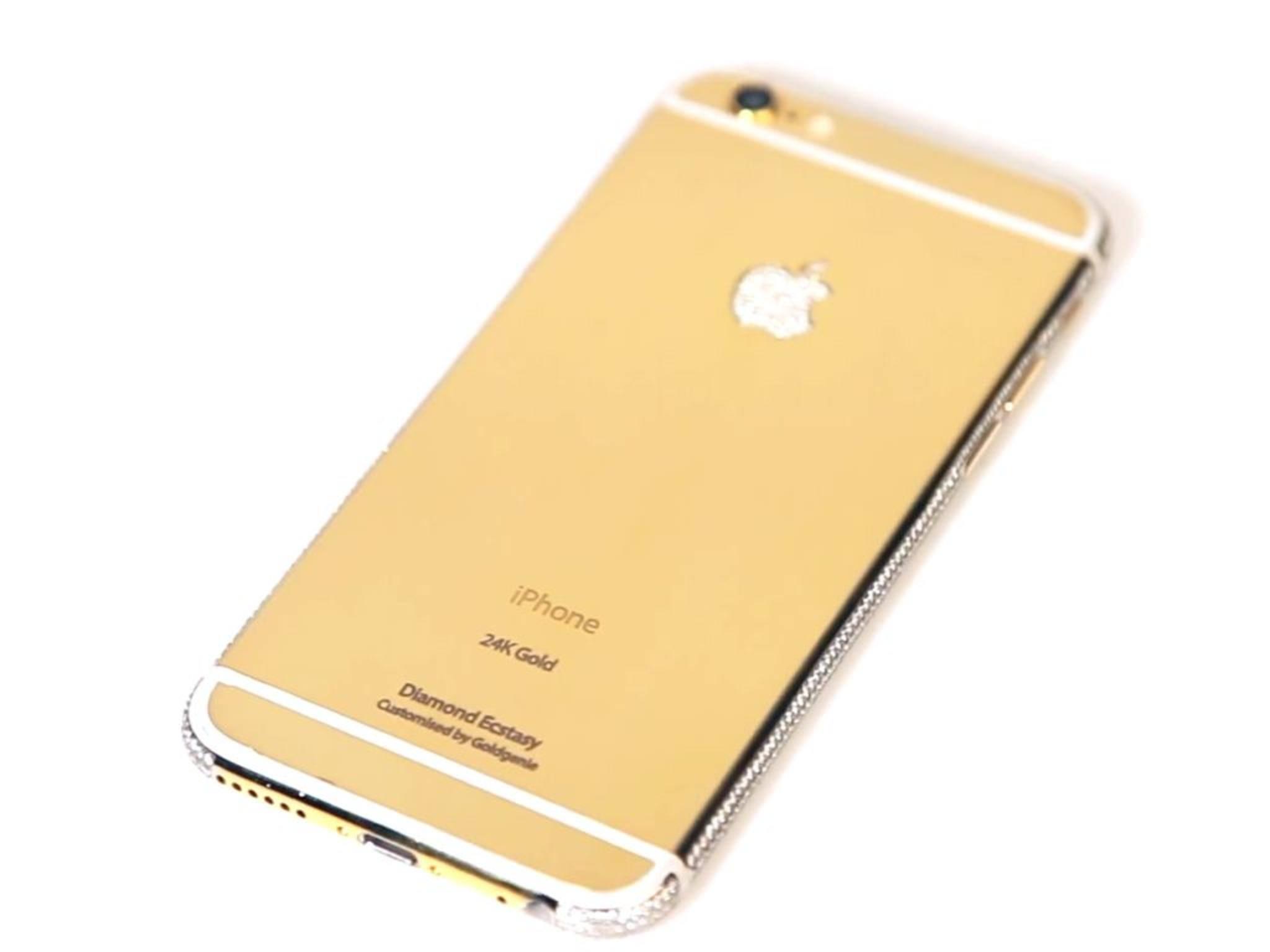 Was wohl die Versicherung dafür kostet? Ein goldenes iPhone 6 für rund 13.000 Euro.