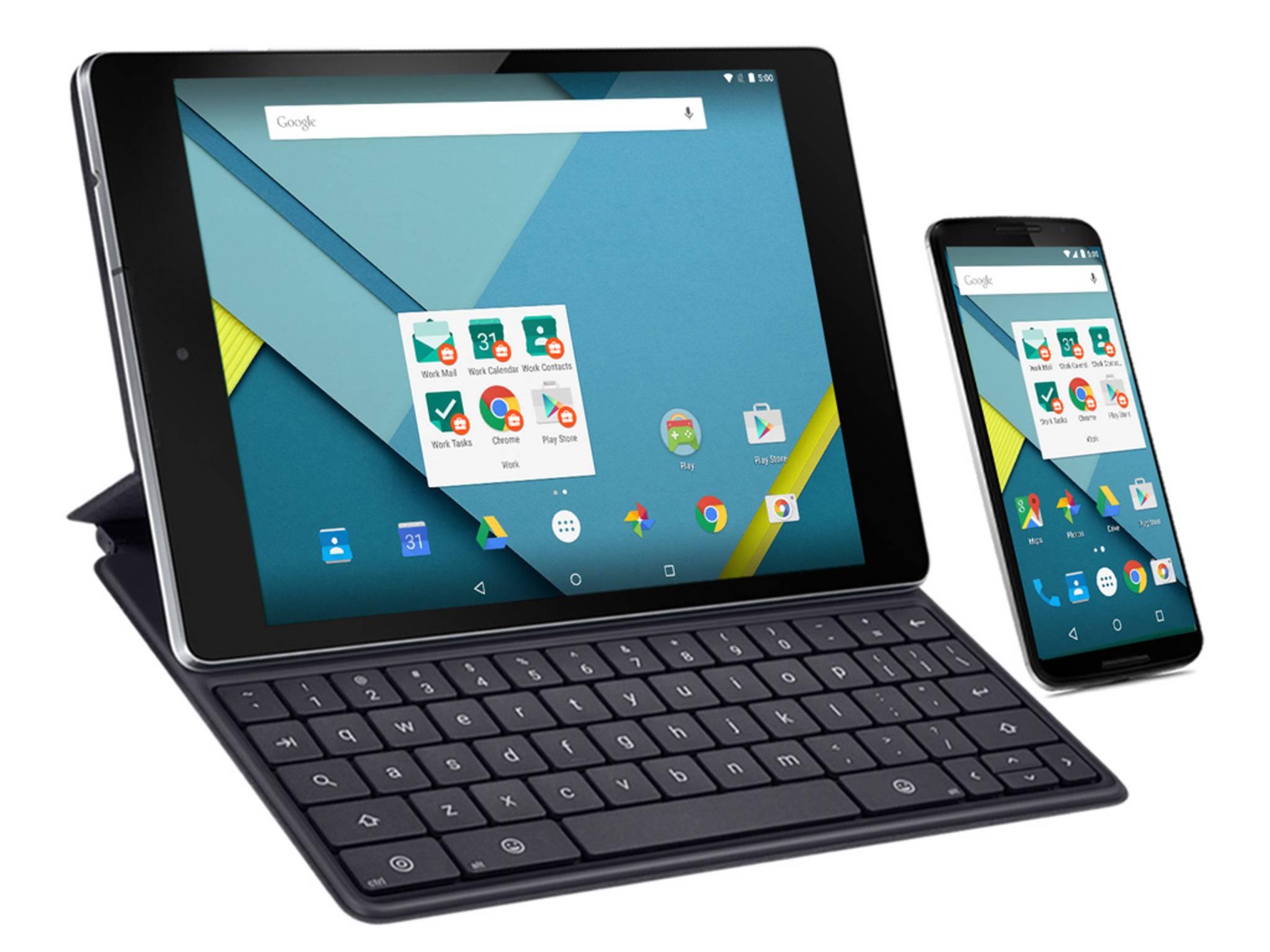 """So soll effizientes und sicheres Arbeiten mit """"Android for Work"""" aussehen."""