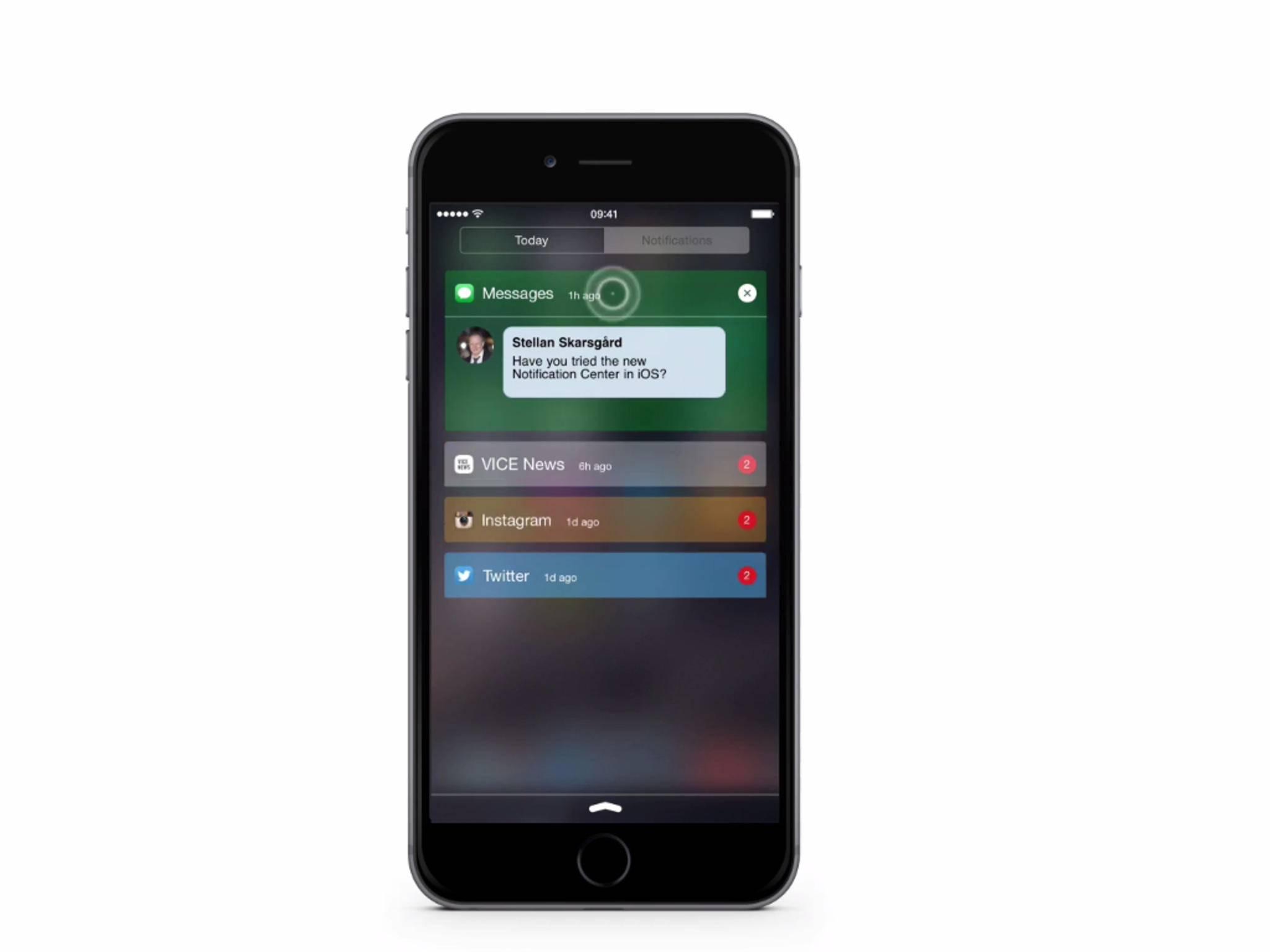 So könnte die Benachrichtigungszentrale unter iOS 9 aussehen.
