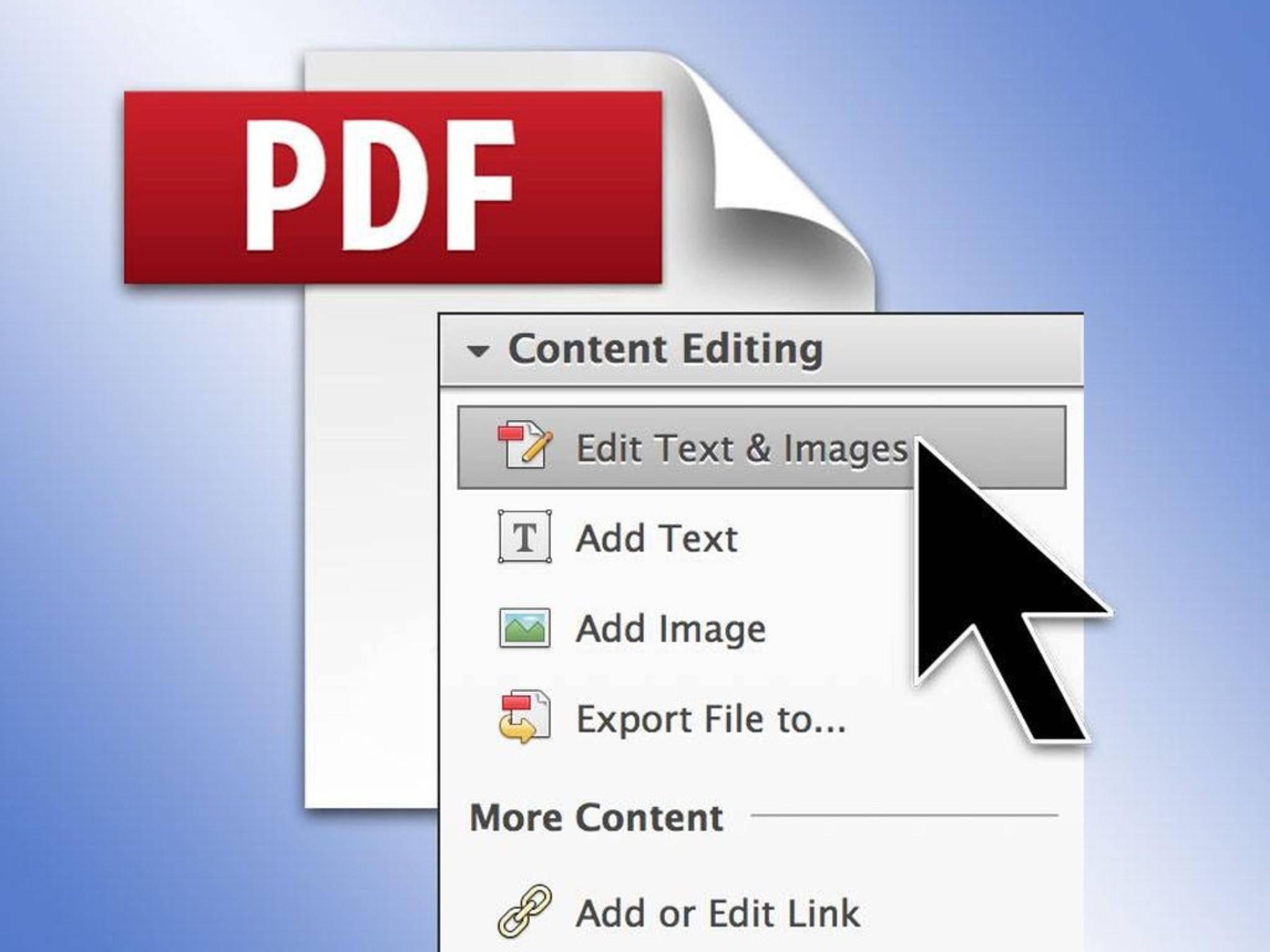 Mit einigen PDF-Apps kann man PDF-Dateien auch bearbeiten.