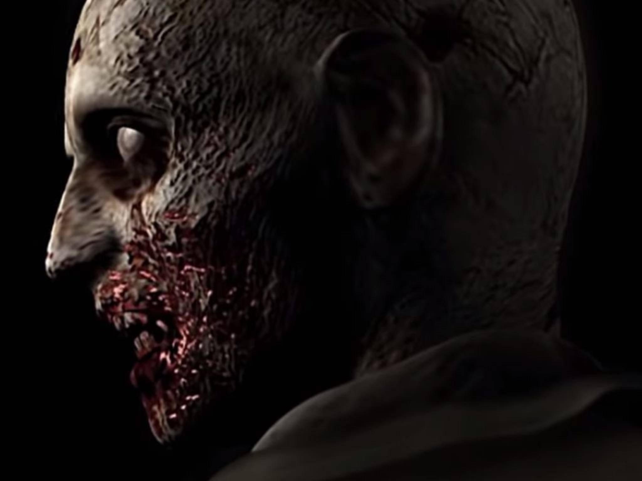 """Vor 20 Jahren war das ein Schock: Der erste Zombie, auf den man in """"Resident Evil"""" trifft."""