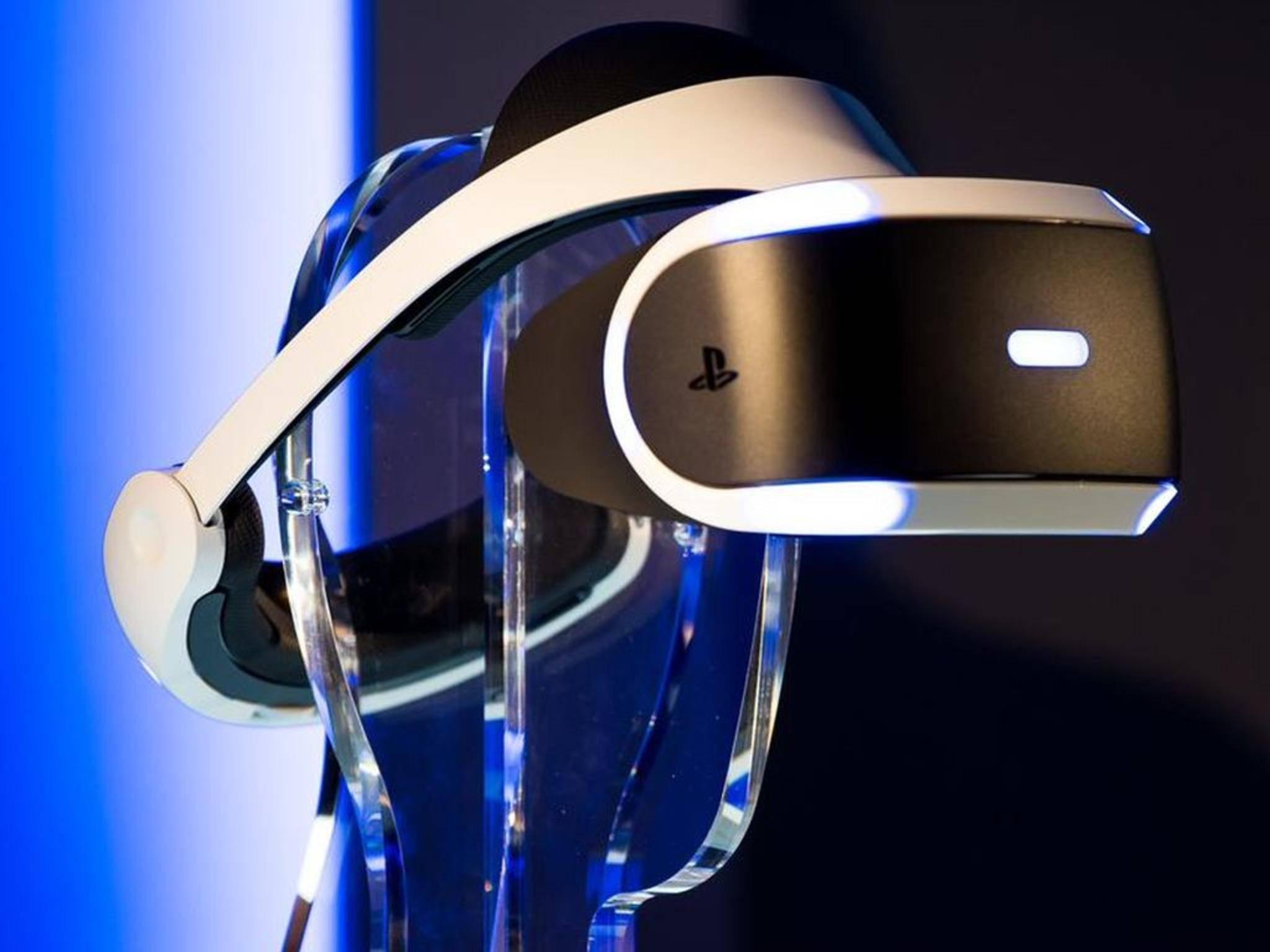 Die Virtual Reality-Brille PlayStation VR.