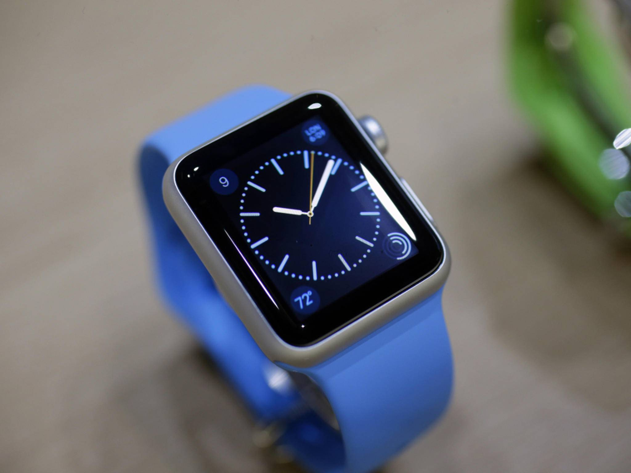 Blaue Apple Watch