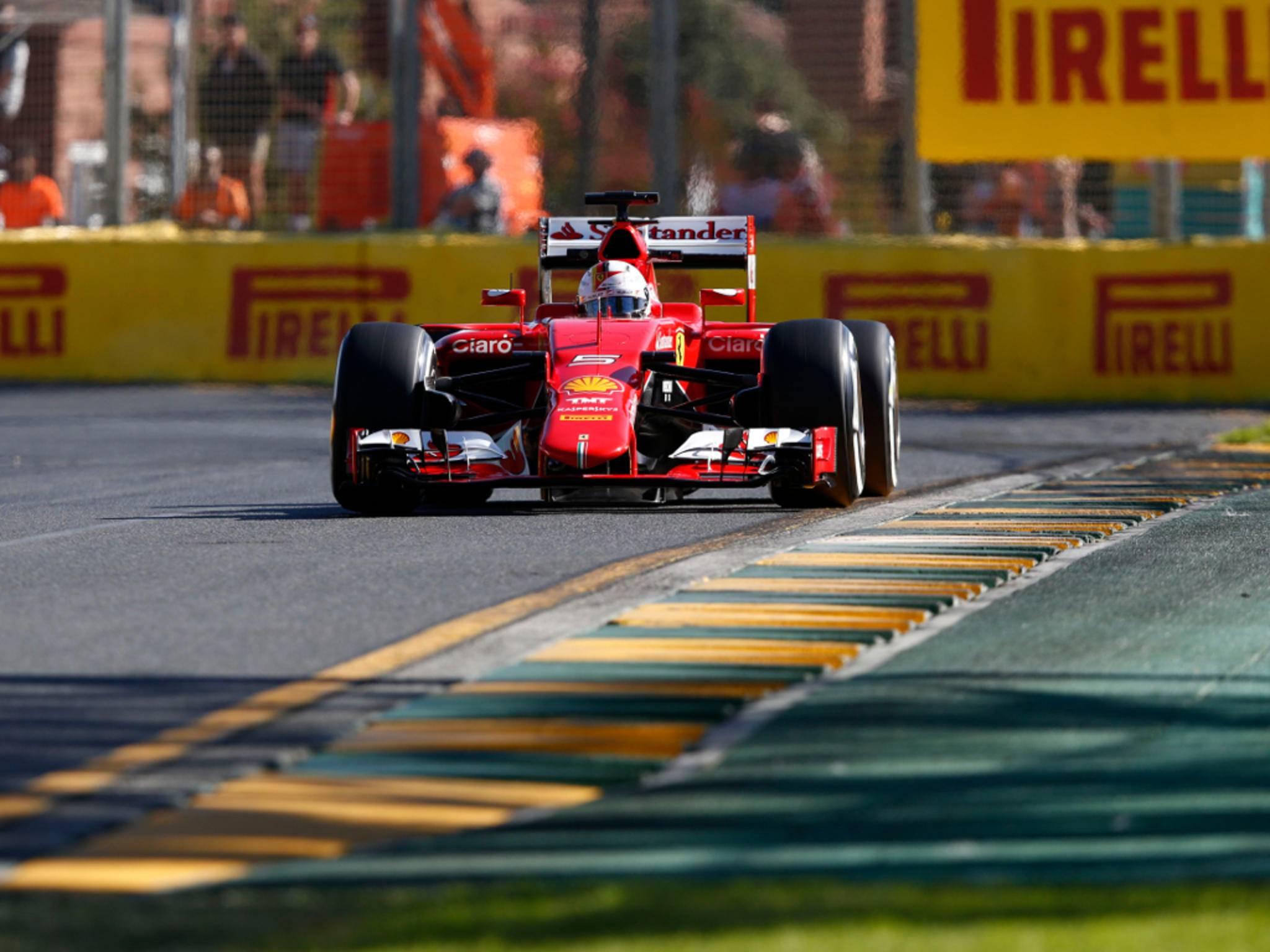 Sebastian Vettel sitzt in dieser Formel 1-Saison im Ferrari.