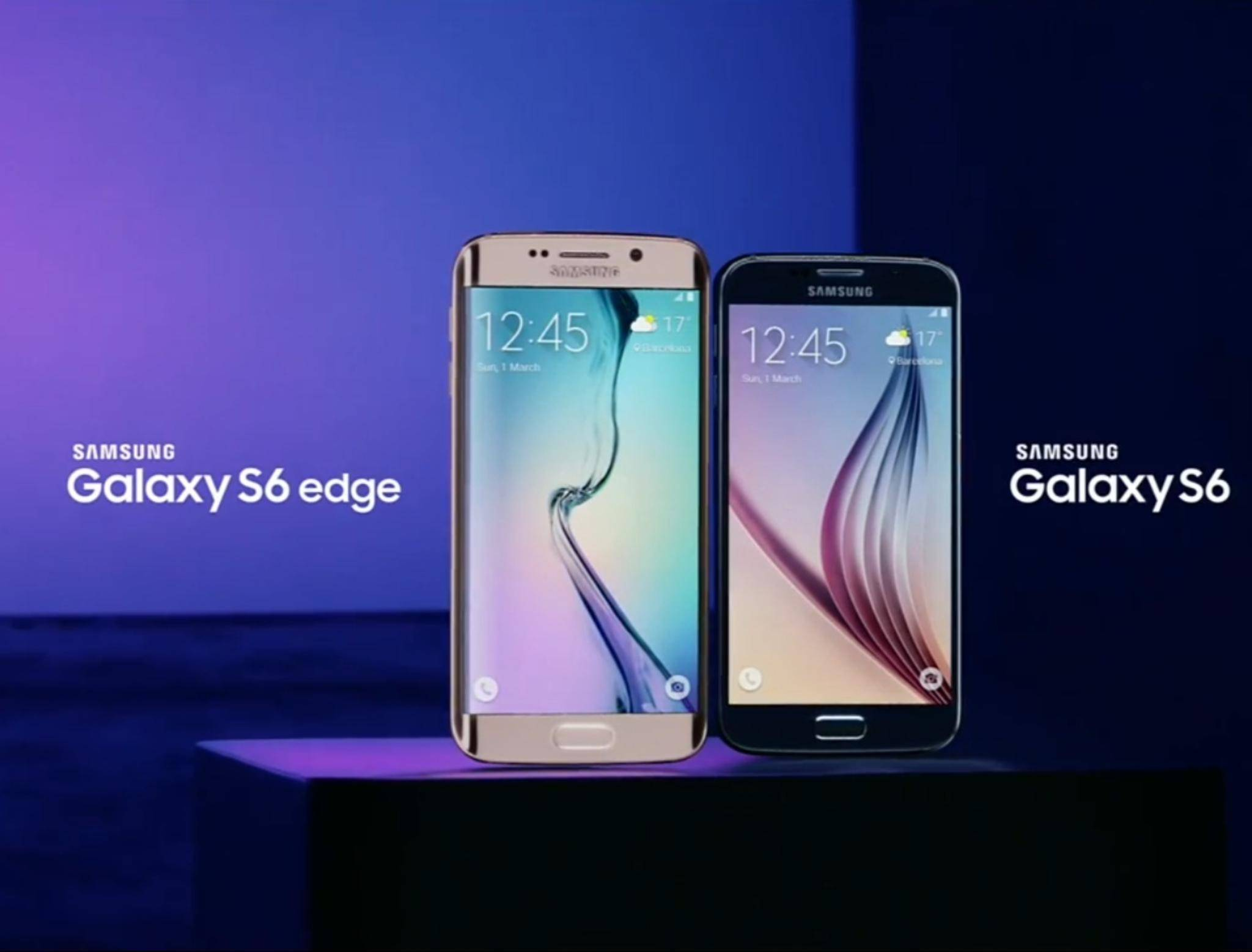 Starkes Duo: das Samsung Galaxy S6 edge und Galaxy S6