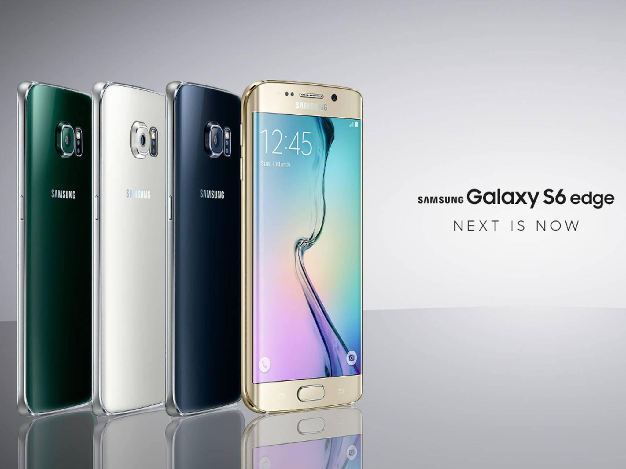 Doppelter Angriff auf Apple: Die Samsung-Flaggschiffe Galaxy S6 und S6 edge.