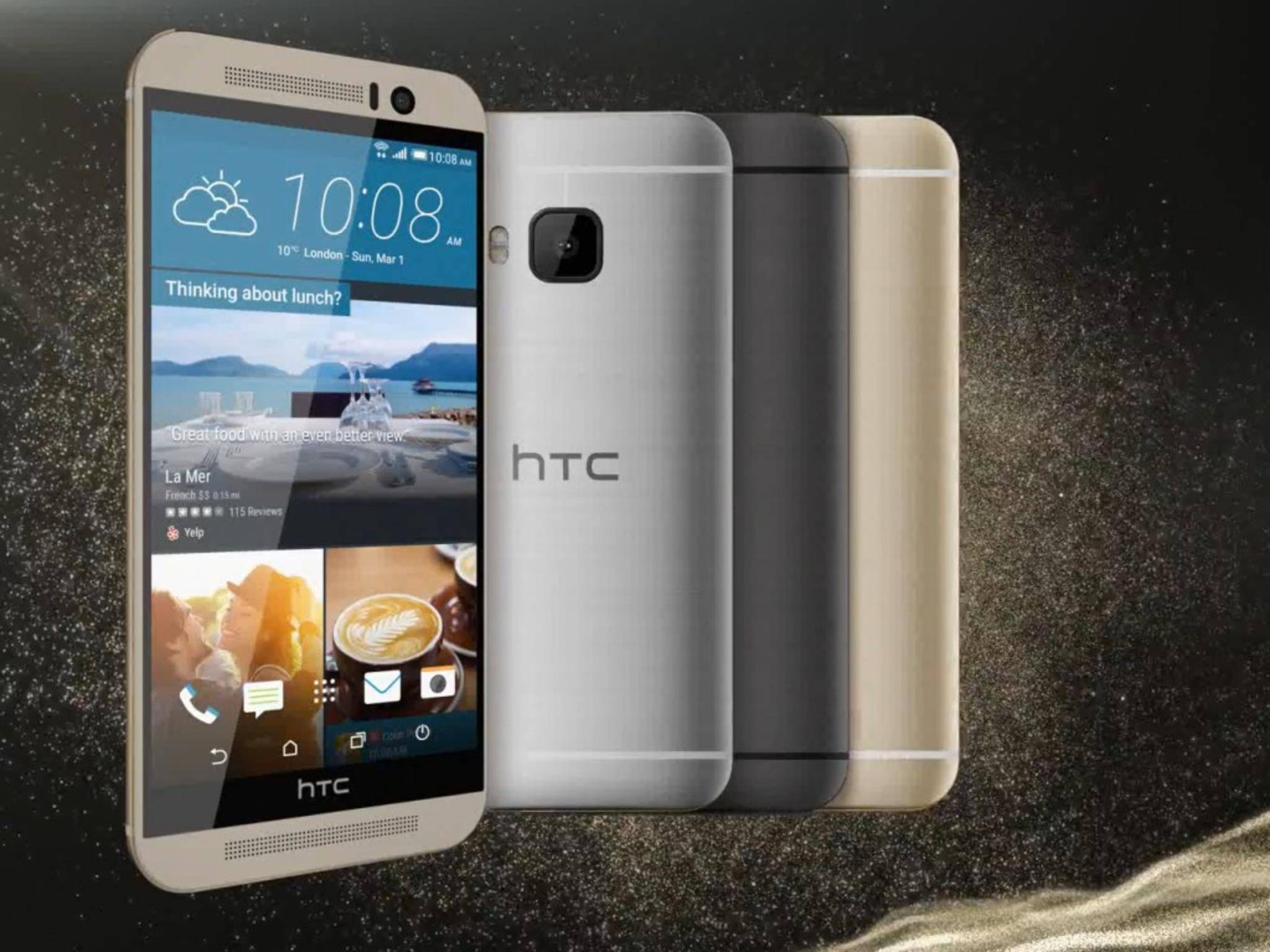 Das ist der Standardlook: Das HTC One M9 kann man aber ganz einfach komplett umgestalten.