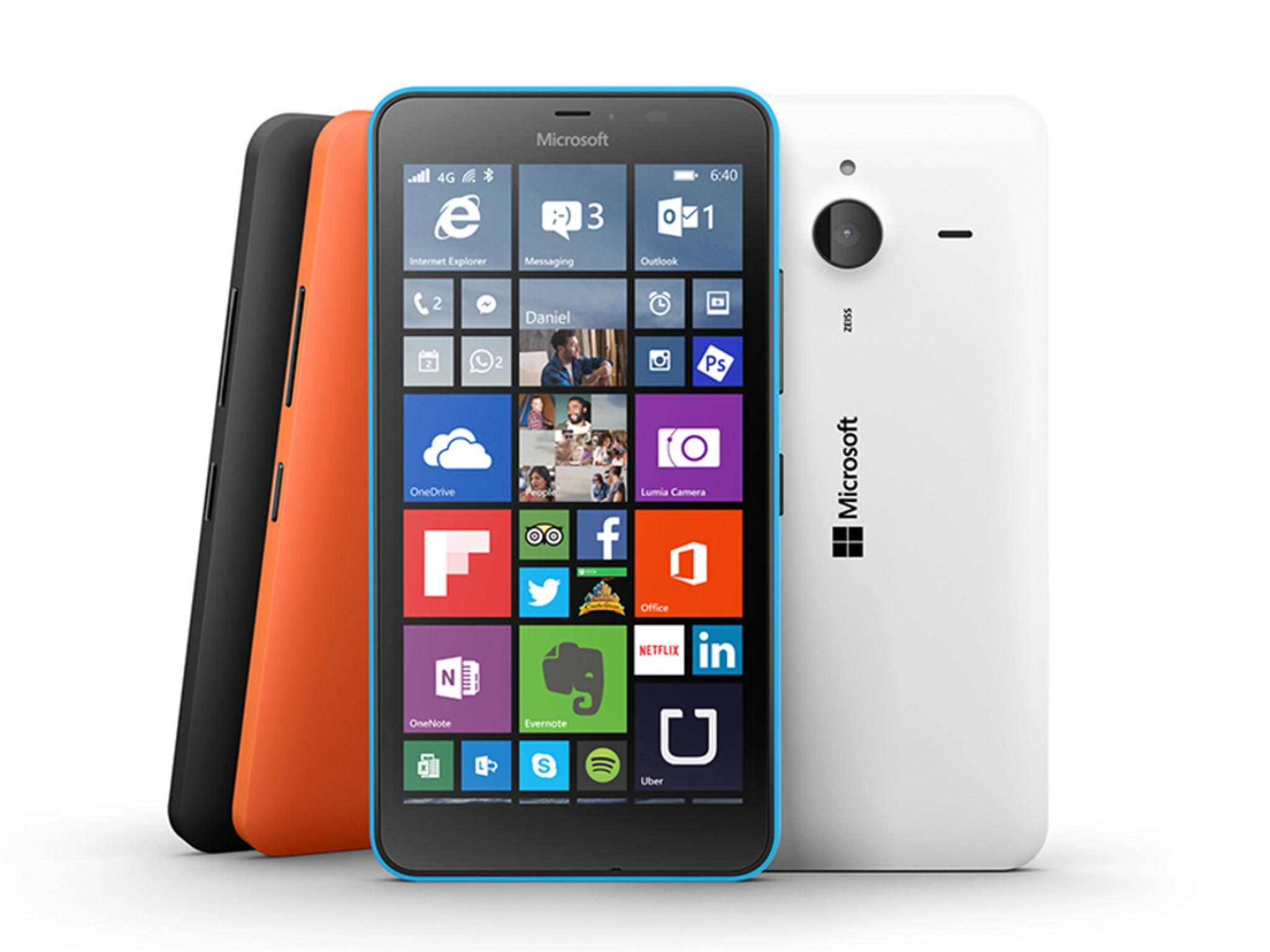 Das Lumia 640 XL kommt noch mit Windows 8.1 auf den Markt.