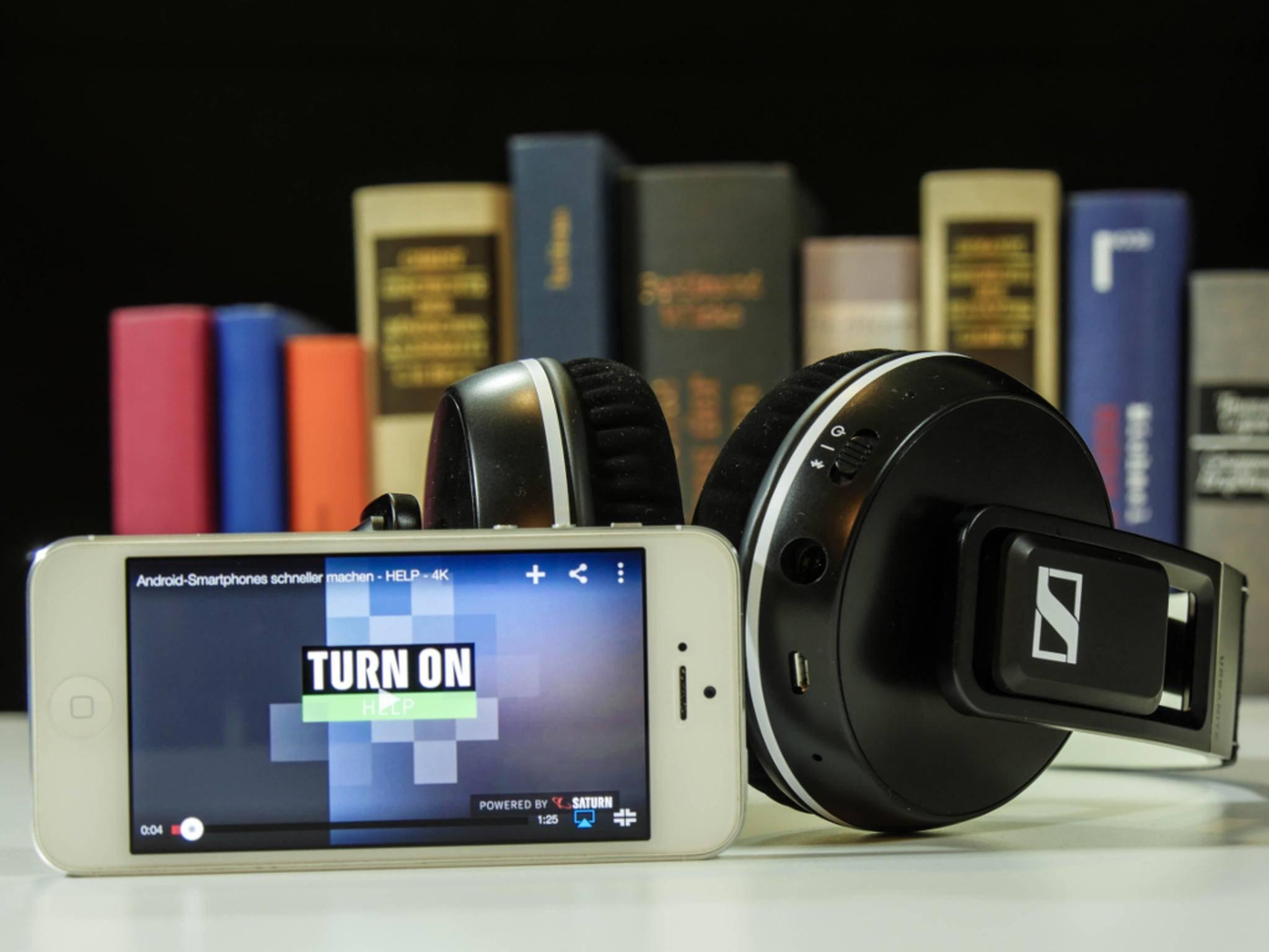 Die Bluetooth-Reichweite beträgt ungefähr zehn Meter.