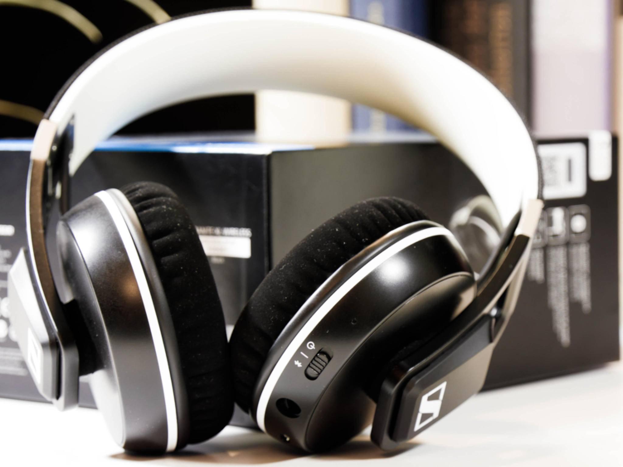 Die Samtpolster des Kopfhörers können ausgetauscht werden.