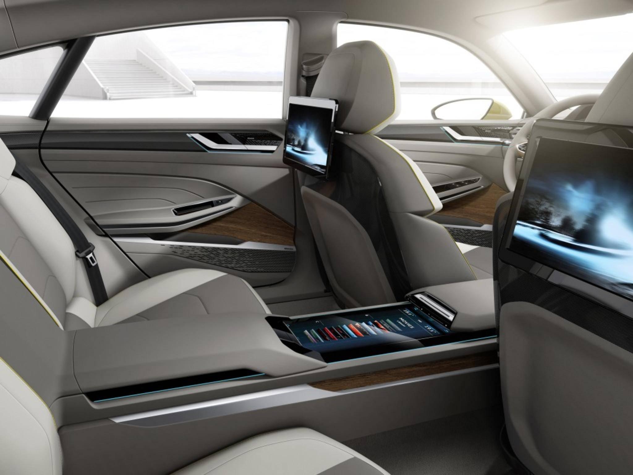 Highlight der VW-Studie ist der futuristische Innenraum.