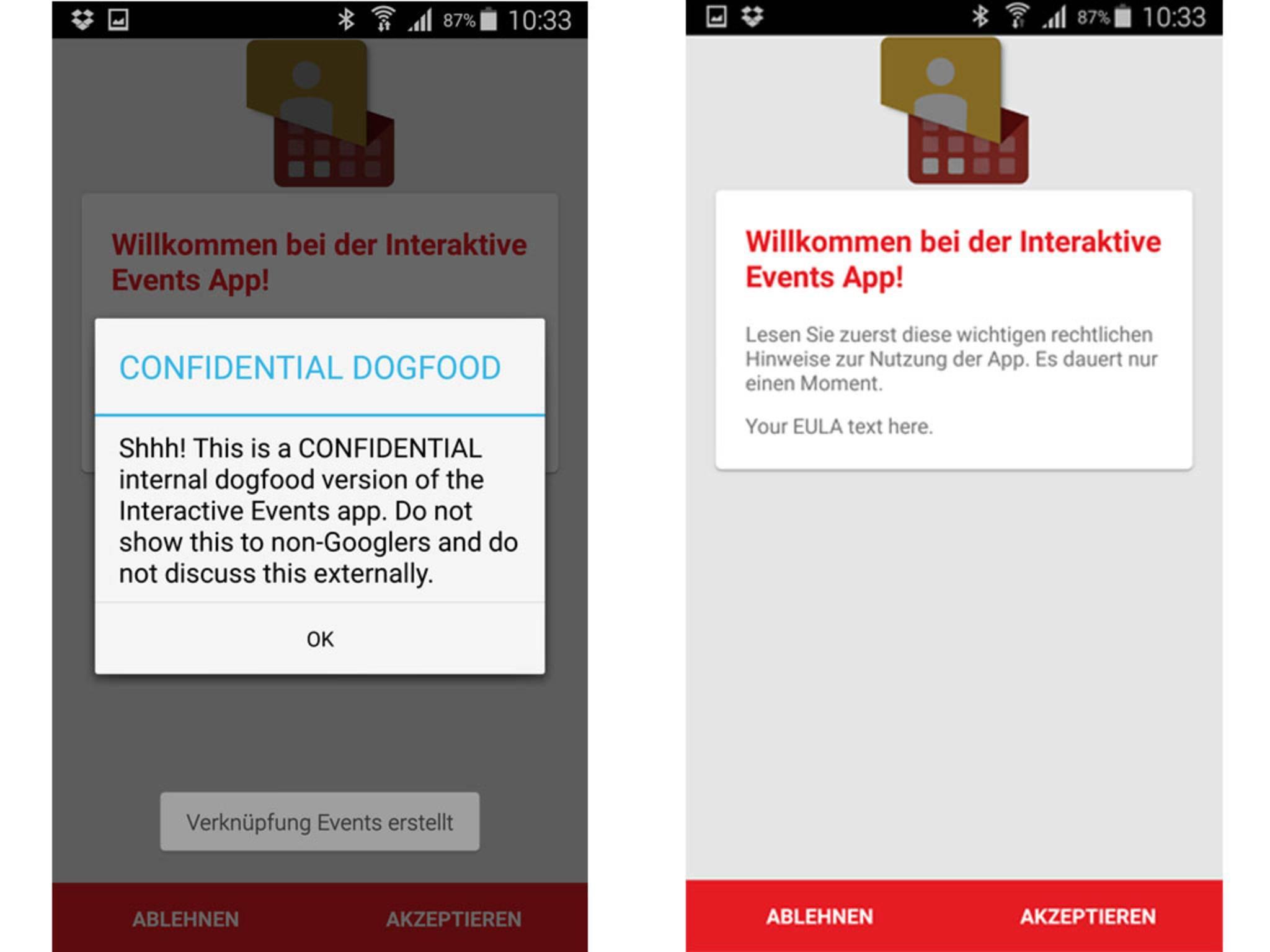 Interactive Events: Eine geheime App von Google, um Veranstaltungsbesuche zu planen?