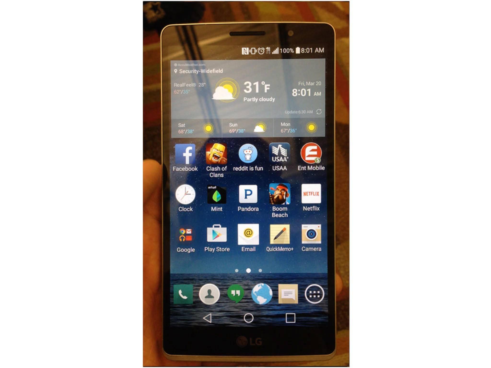 Das Display des LG G4 scheint leicht gebogen zu sein.