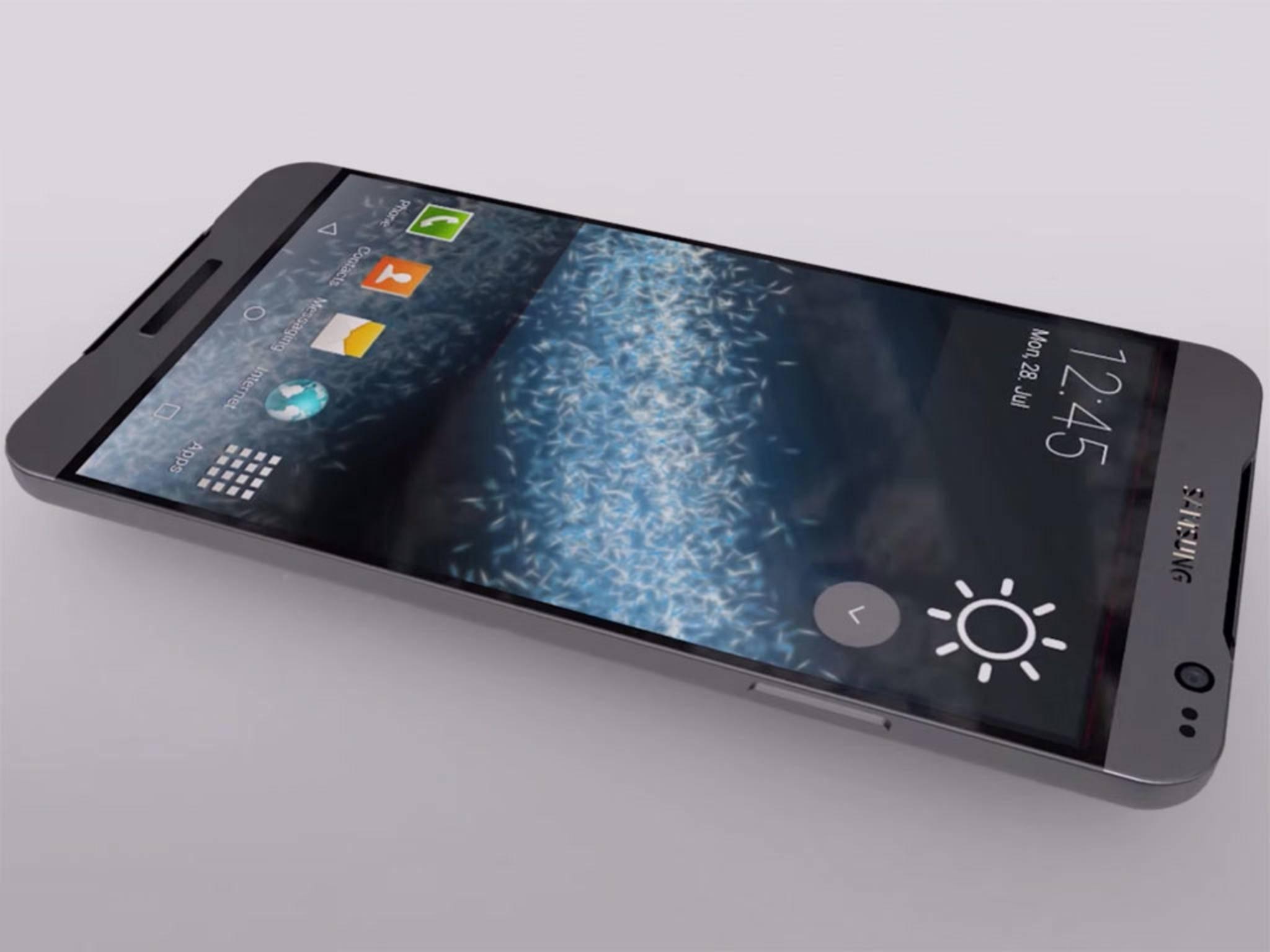 Eine Konzeptstudie des Samsung Galaxy S7.