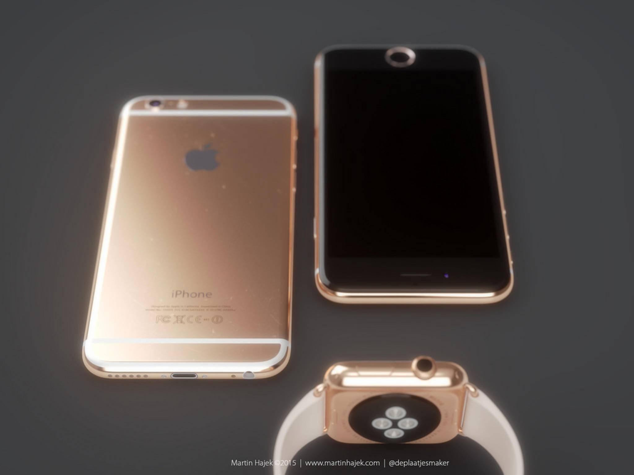 Das nächste iPhone könnte auch in Roségold erscheinen.