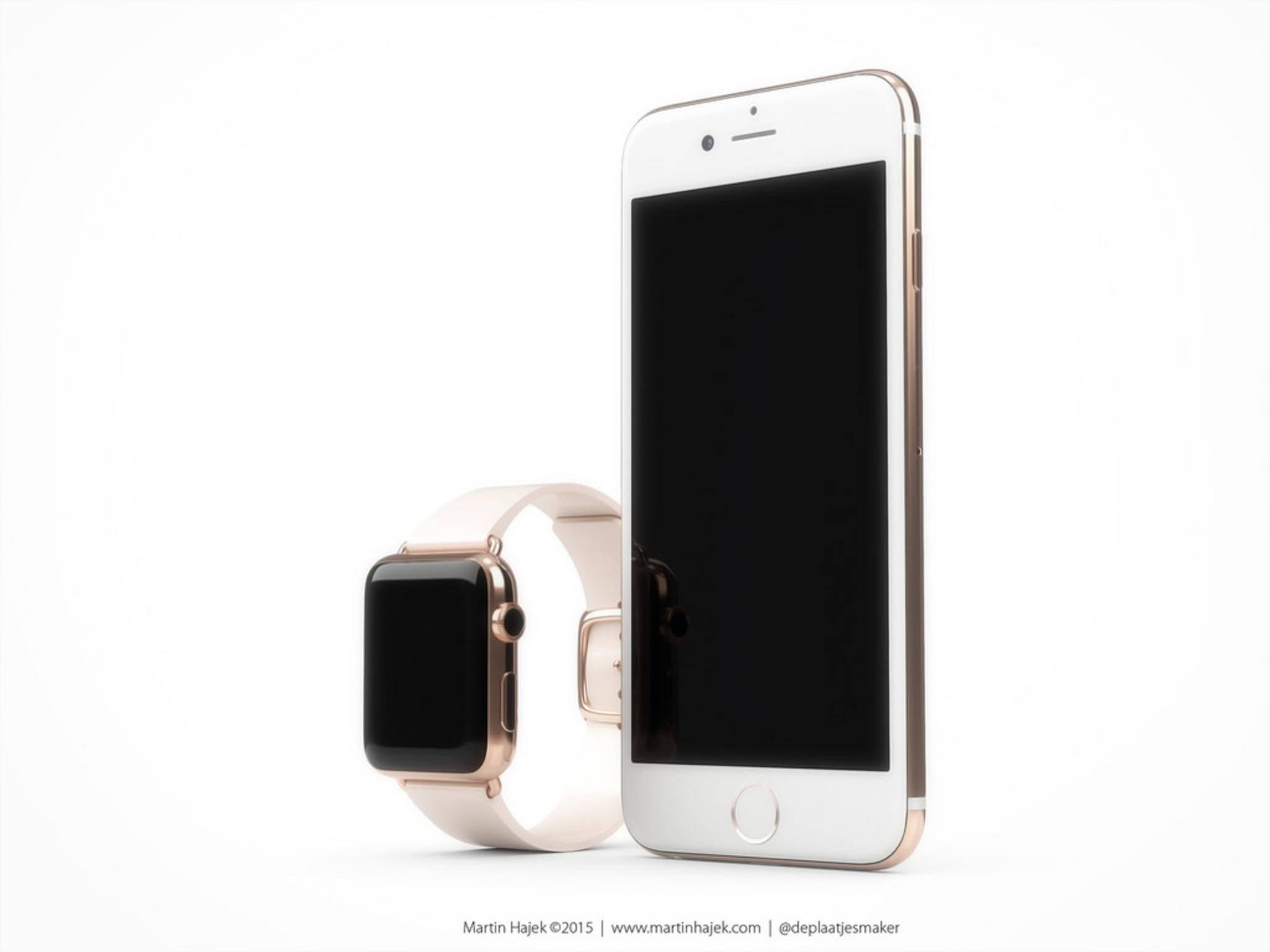 Das iPhone 6s in Roségold.