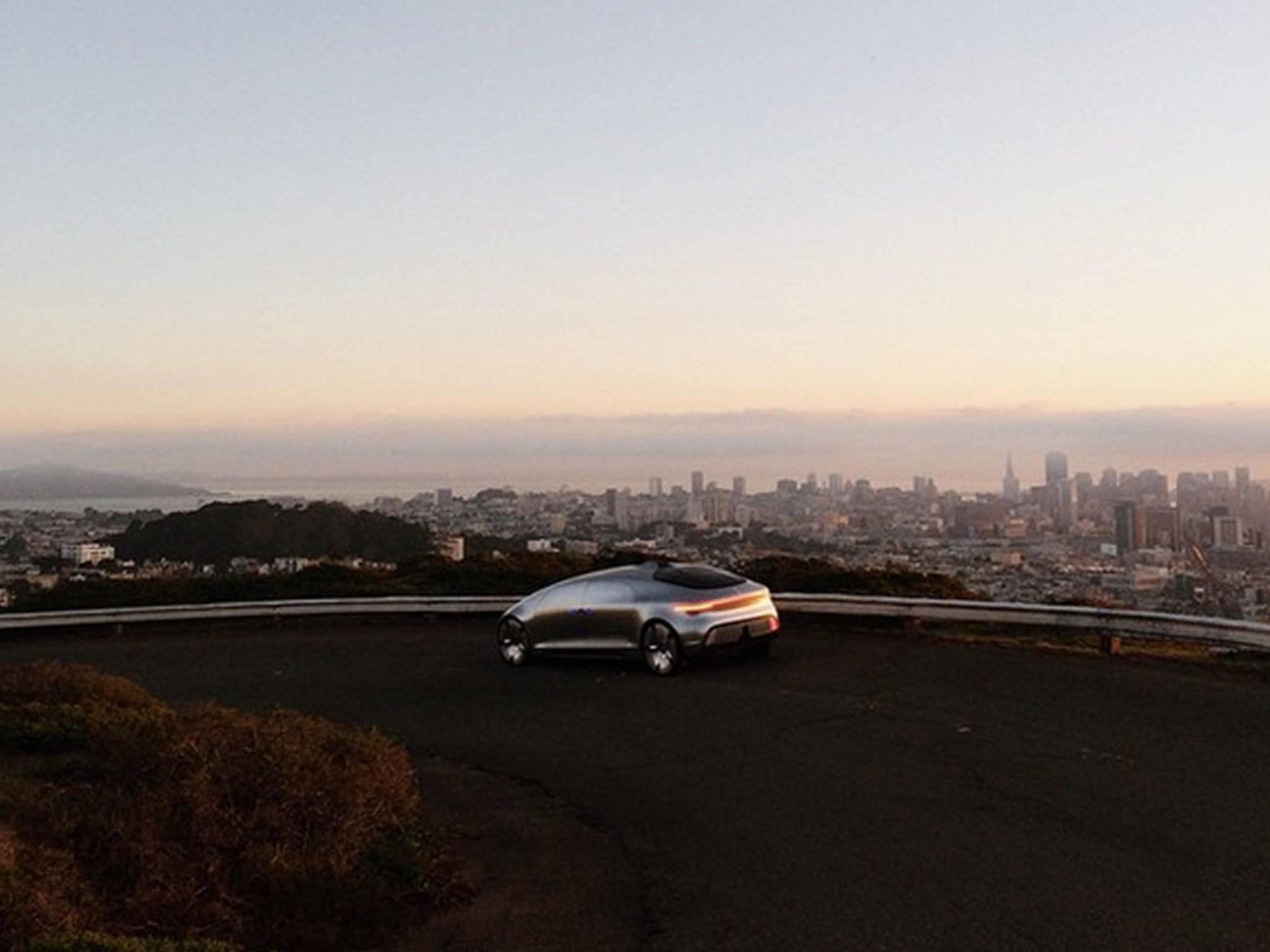 Der Mercedes F015 wurde in San Francisco gesichtet.