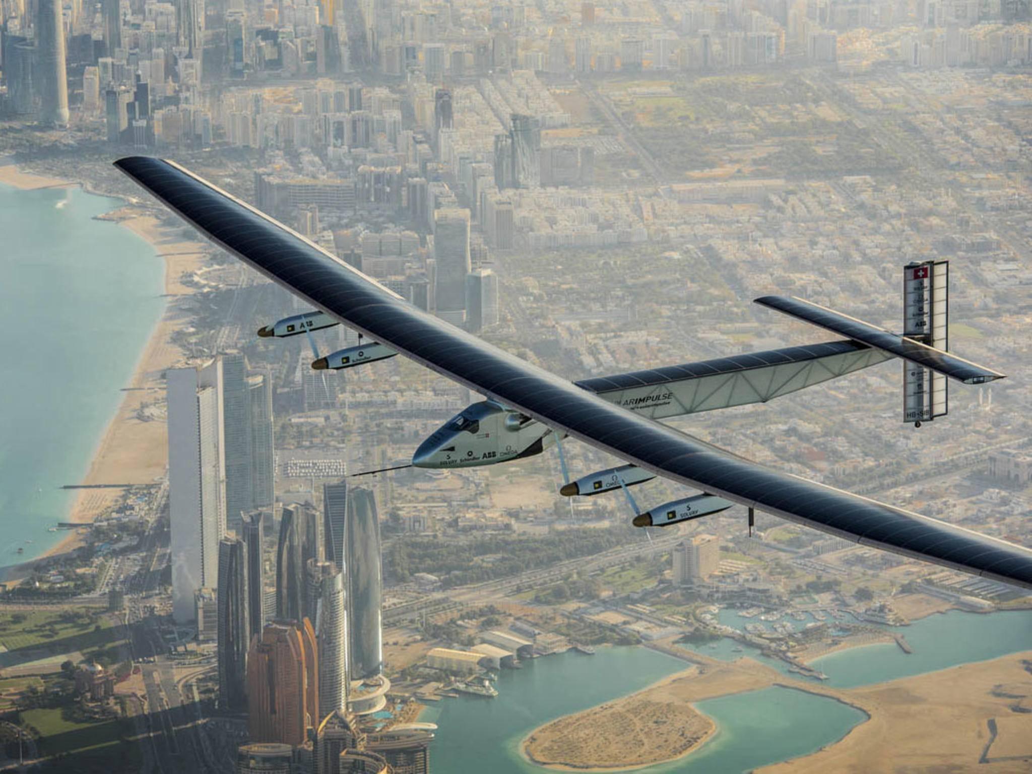 Solar Impulse 2: Das Solar-Flugzeug benötigt keinen Treibstoff.