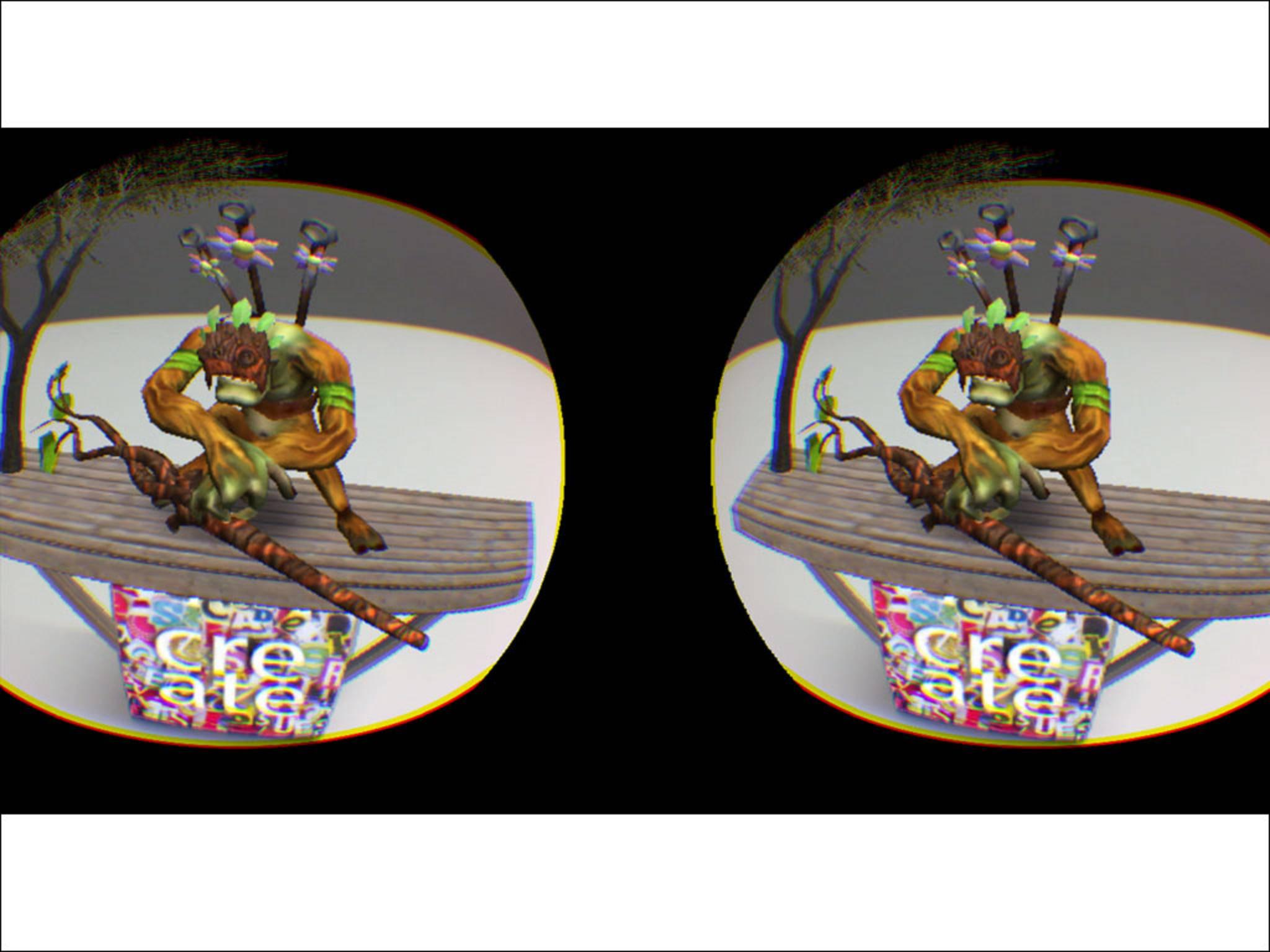 Ein Screenshot aus der VR-App One AR von der Firma Zeiss.