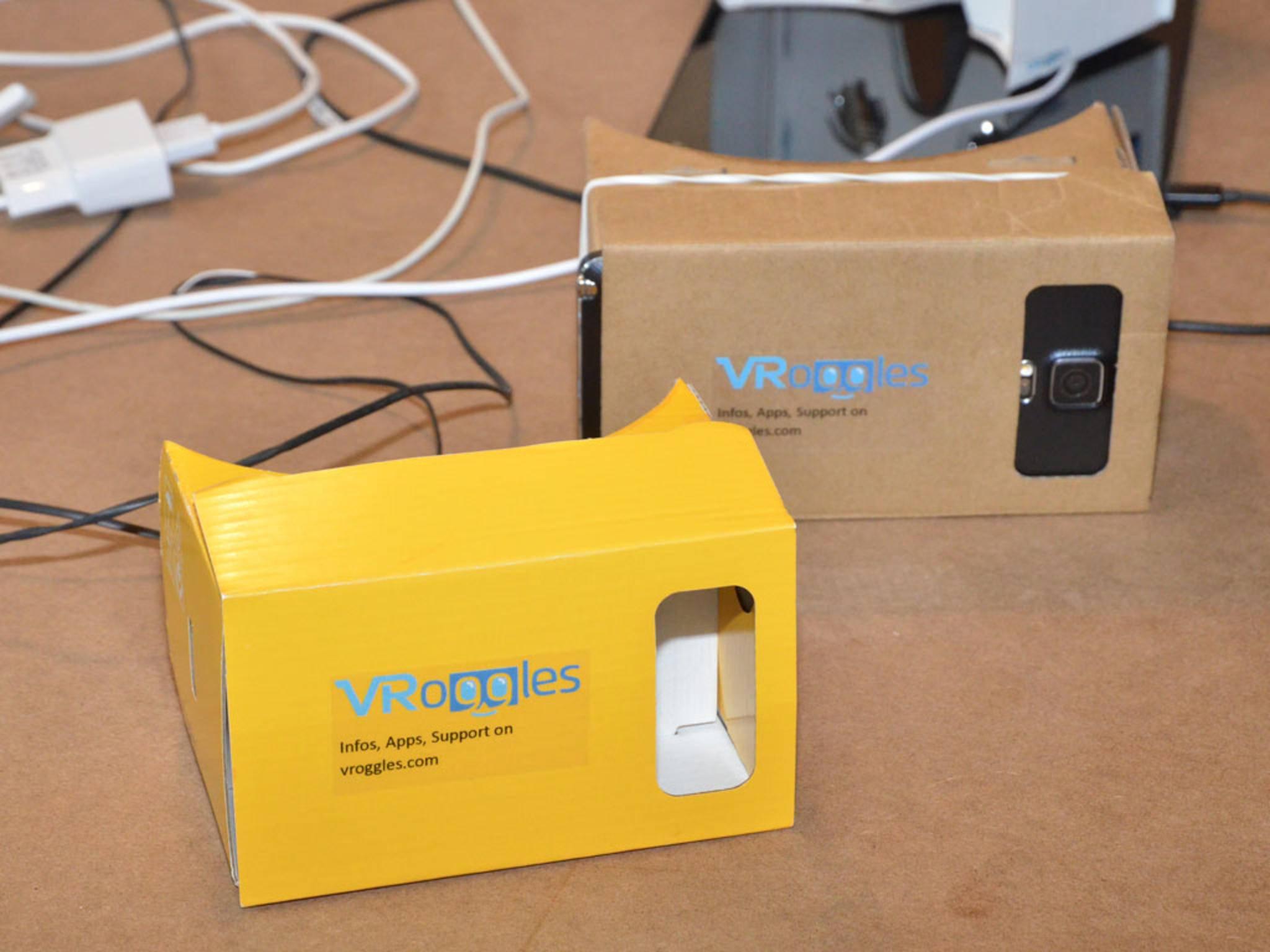 Wie Google Cardboard:VRoggles ist eine VR-Pappbrille aus Deutschland.
