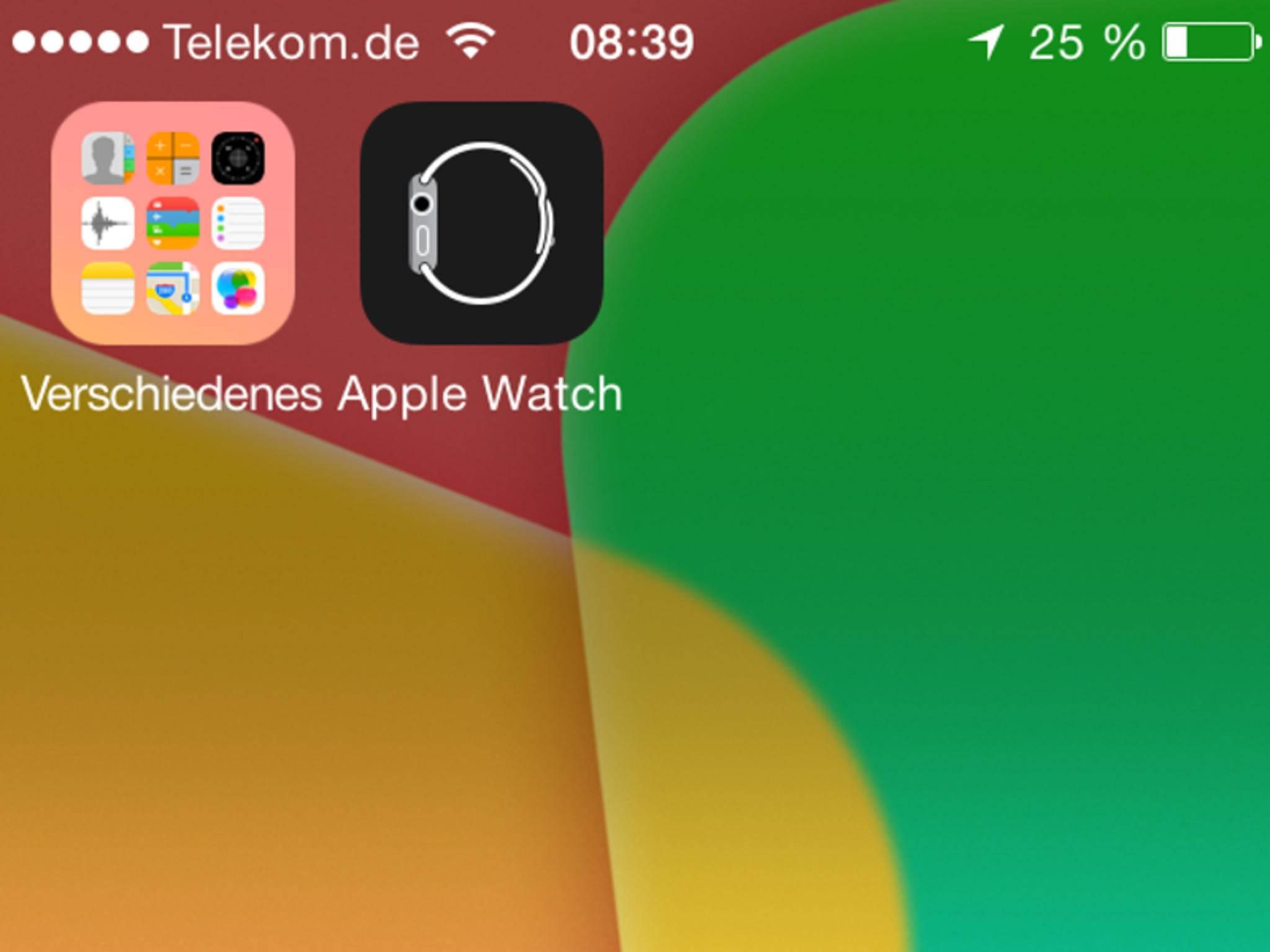 So sieht die neue Companion-App für die Apple Watch aus.