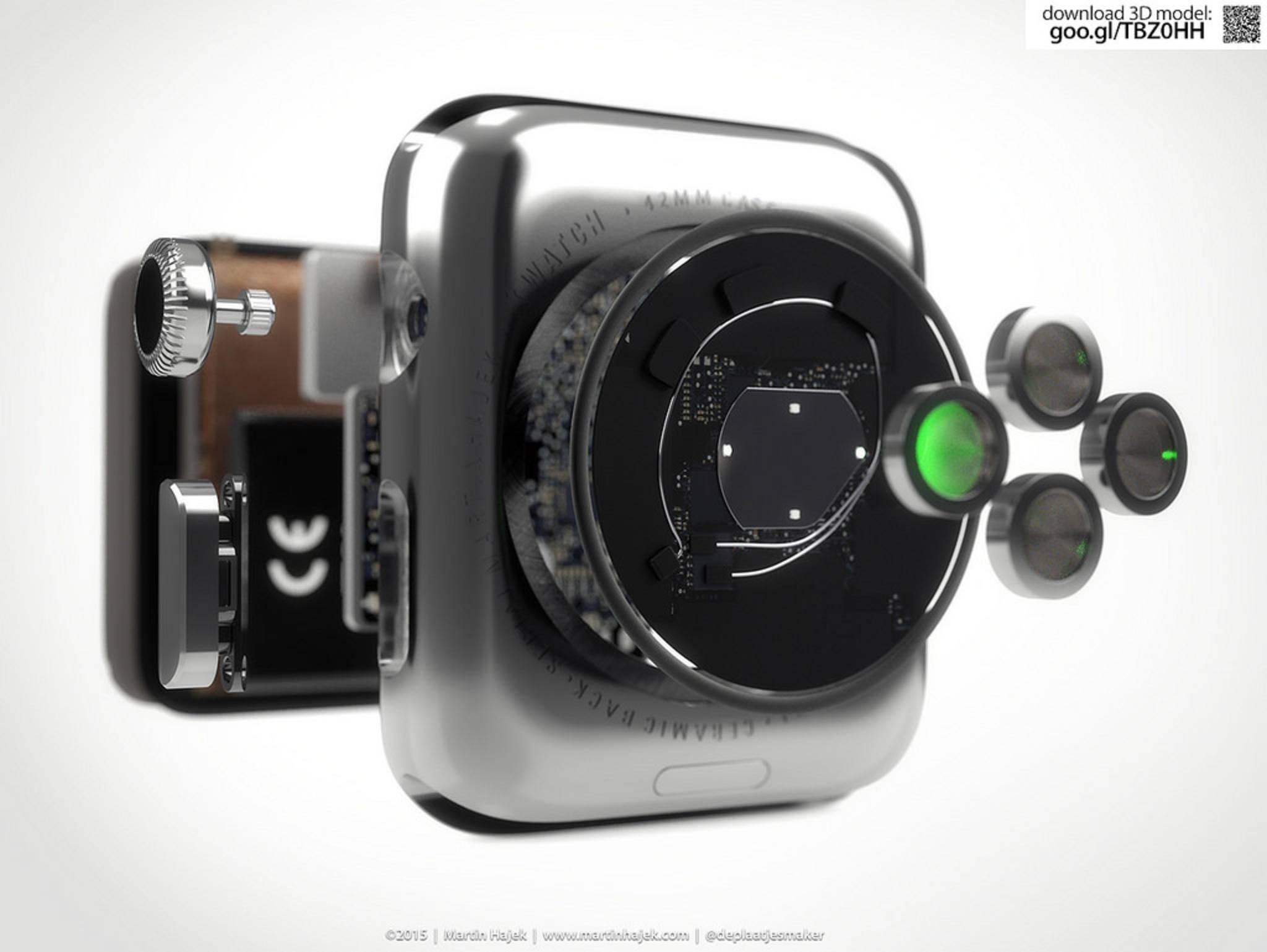 Was steckt in der Apple Watch? Diese Konzeptbilder geben Antwort.