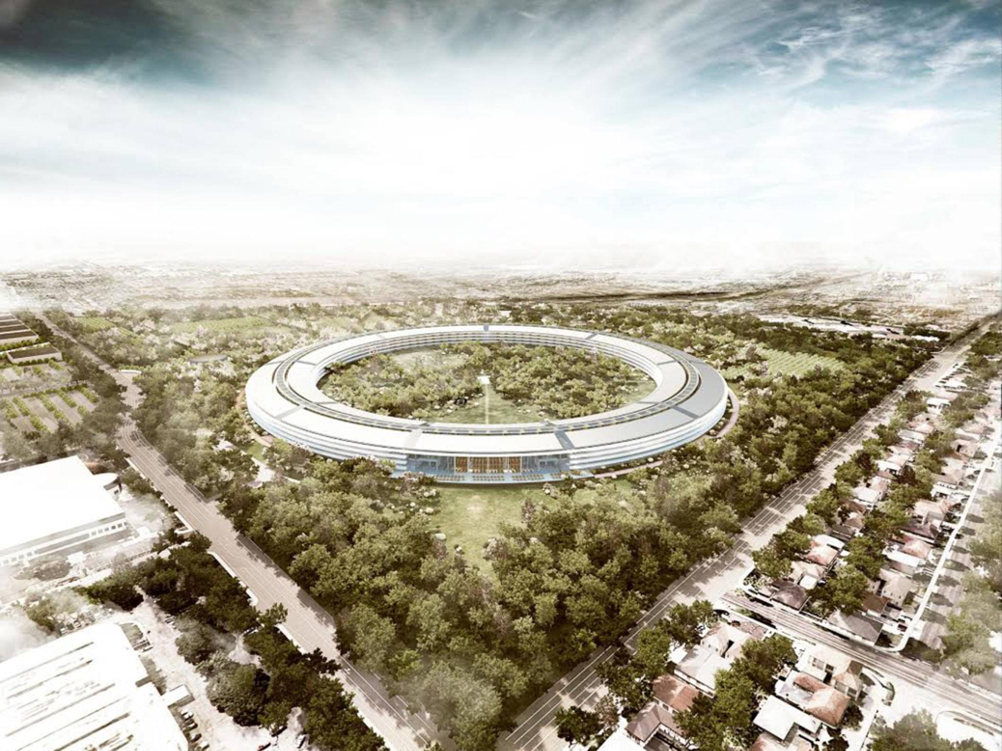 Der Apple Campus 2 entsteht in Cupertino.