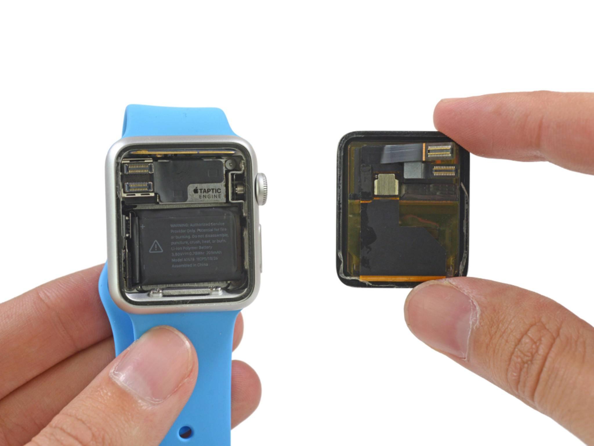 iFixit hat die Apple Watch auseinandergenommen.